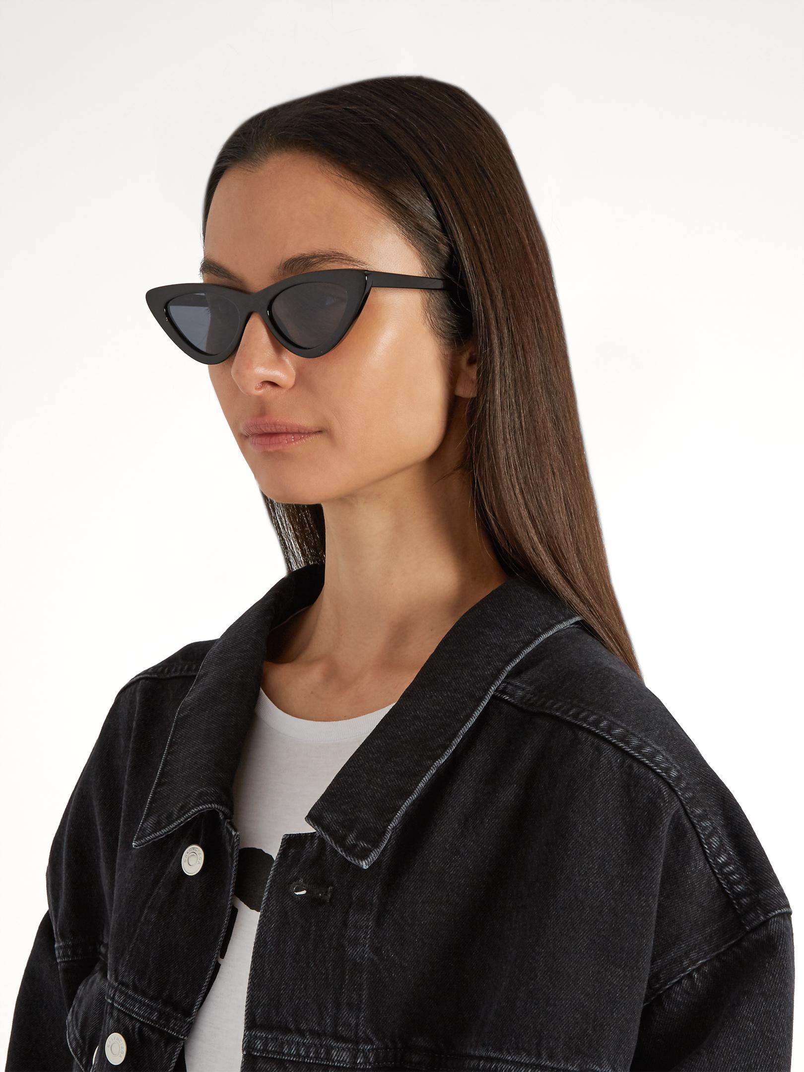 357a3871c17 Lyst - Le Specs The Last Lolita Cat-eye Sunglasses in Black