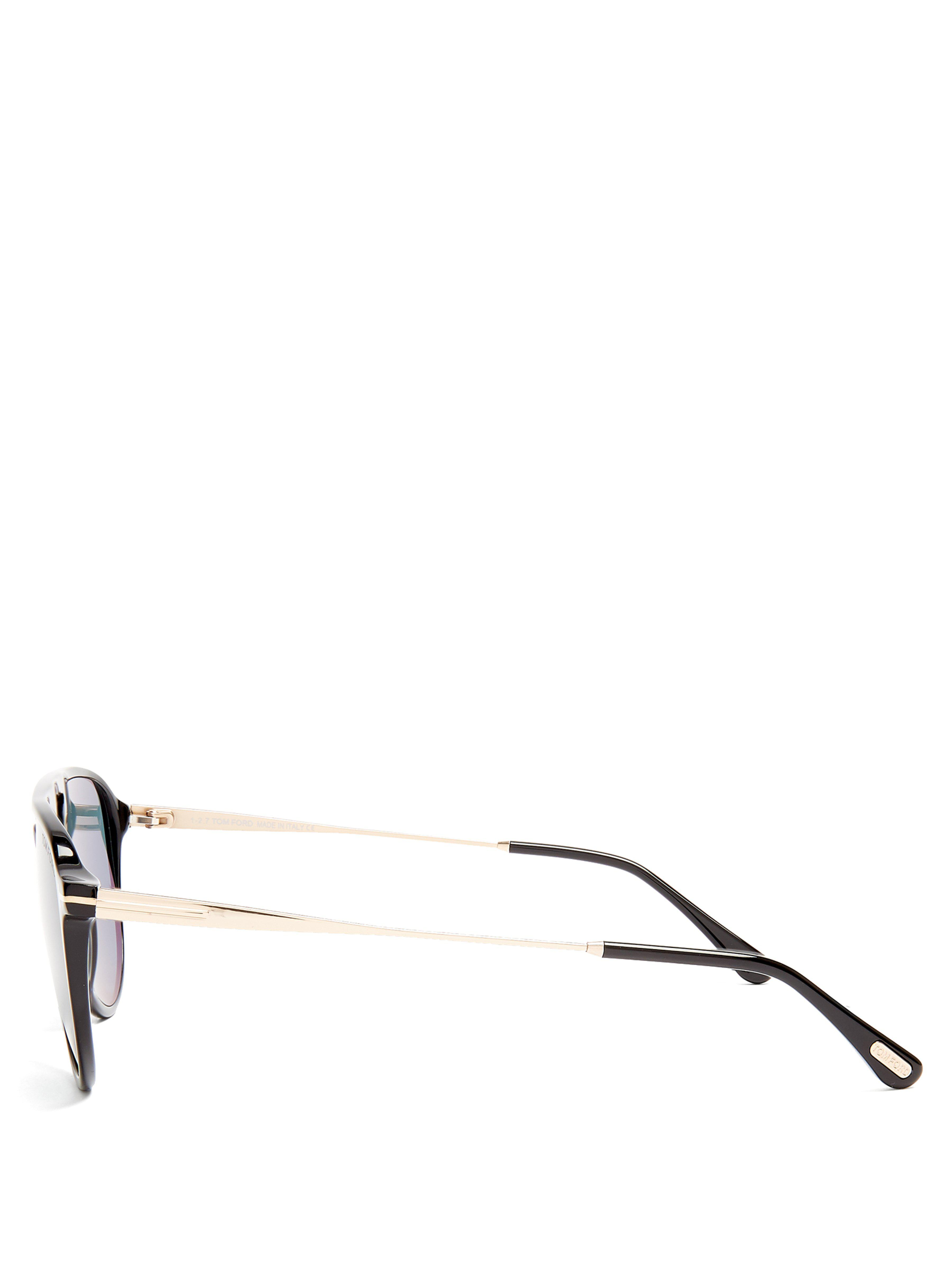 Tom Ford Carlo Aviator Acetate Sunglasses in Black for Men