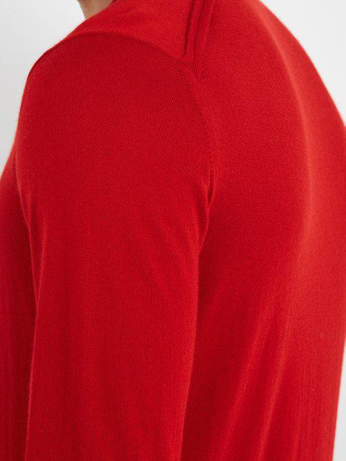 Lanvin Crew-neck Cashmere Sweater in Red for Men