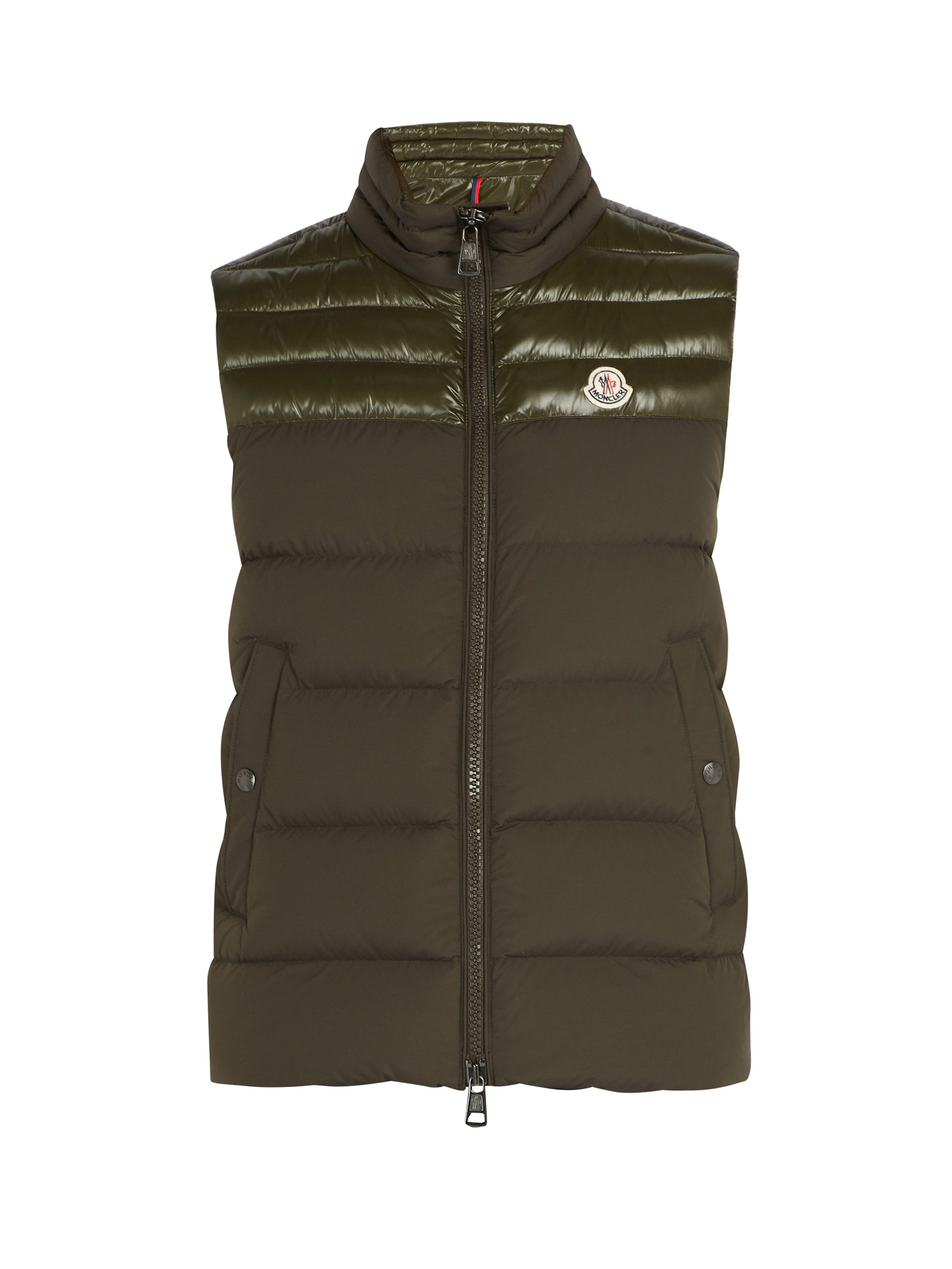 2d48d2c44 Moncler Deneb Quilted Down Gilet in Green for Men - Save ...