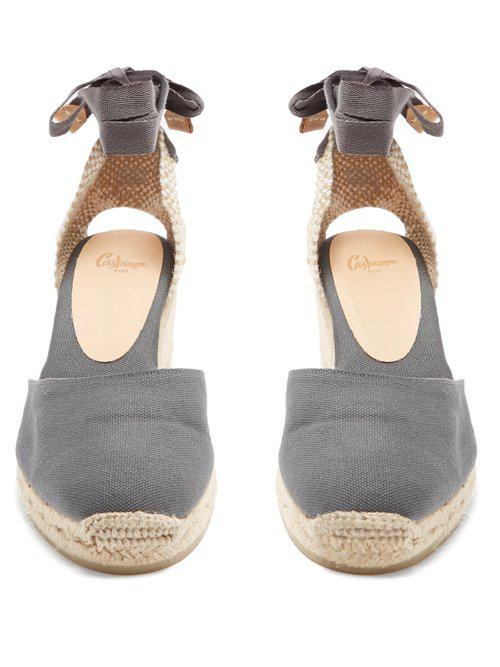 869357f25c1 Lyst - Castaner Carina Canvas Wedge Espadrilles in Gray