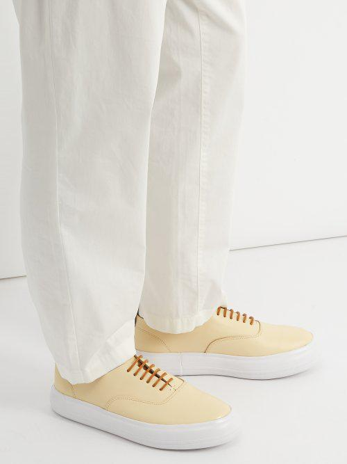 Eytys Maritime Leather Trainers in White for Men