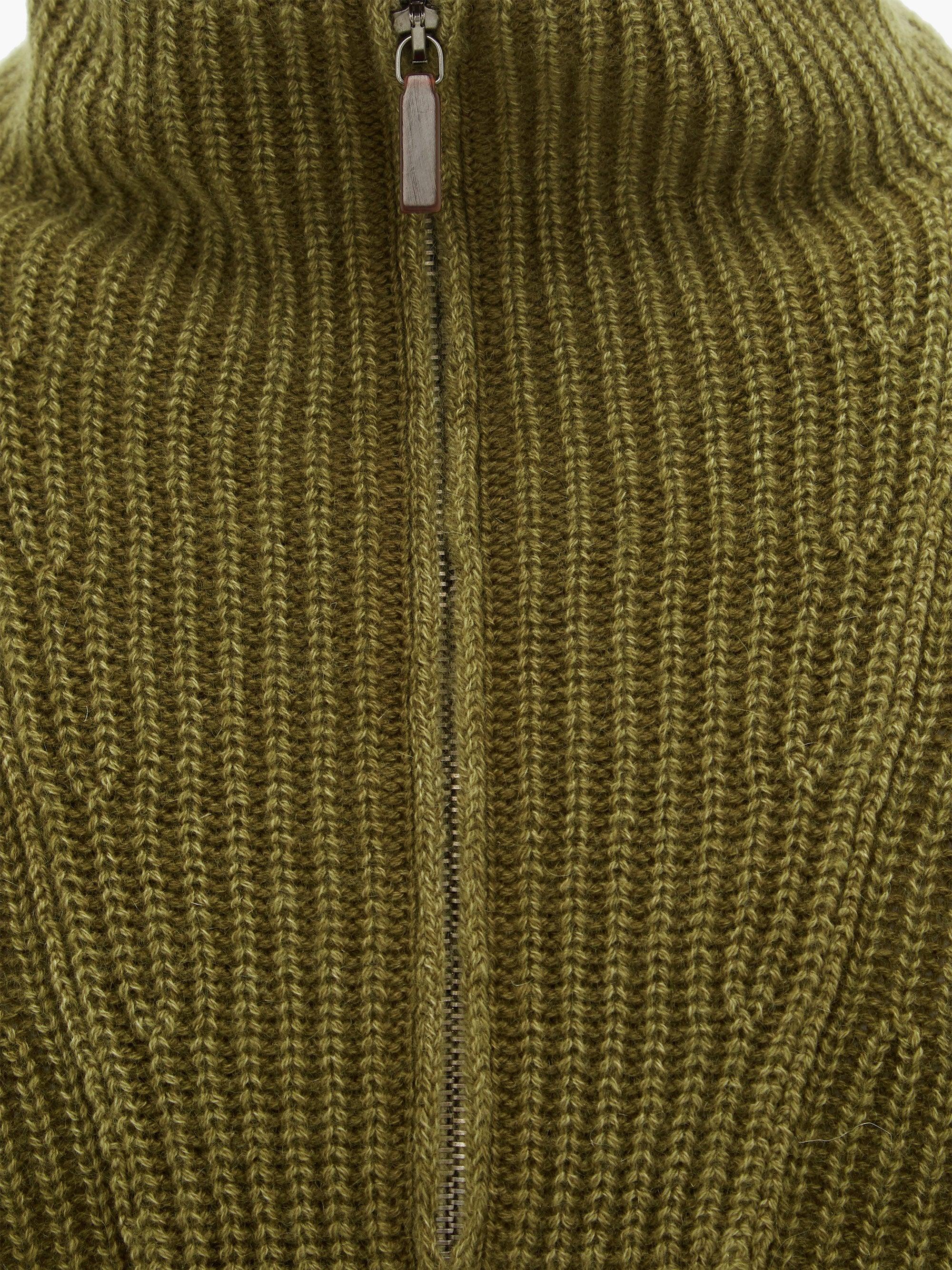 Pull en cachemire délavé à col zippé Milan Cachemire Iris Von Arnim pour homme en coloris Vert