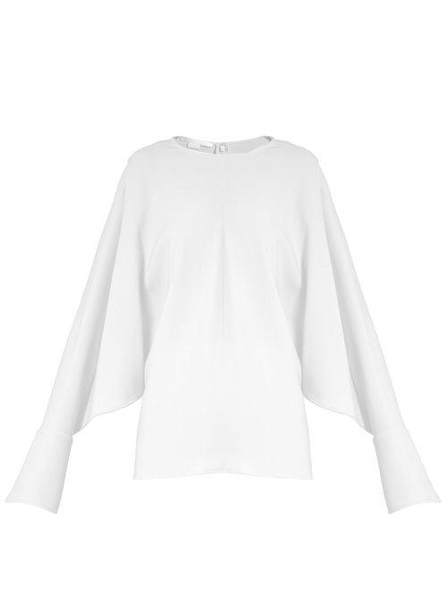 9e85e469 Stella McCartney Marion Split-sleeve Cady Top in White - Lyst