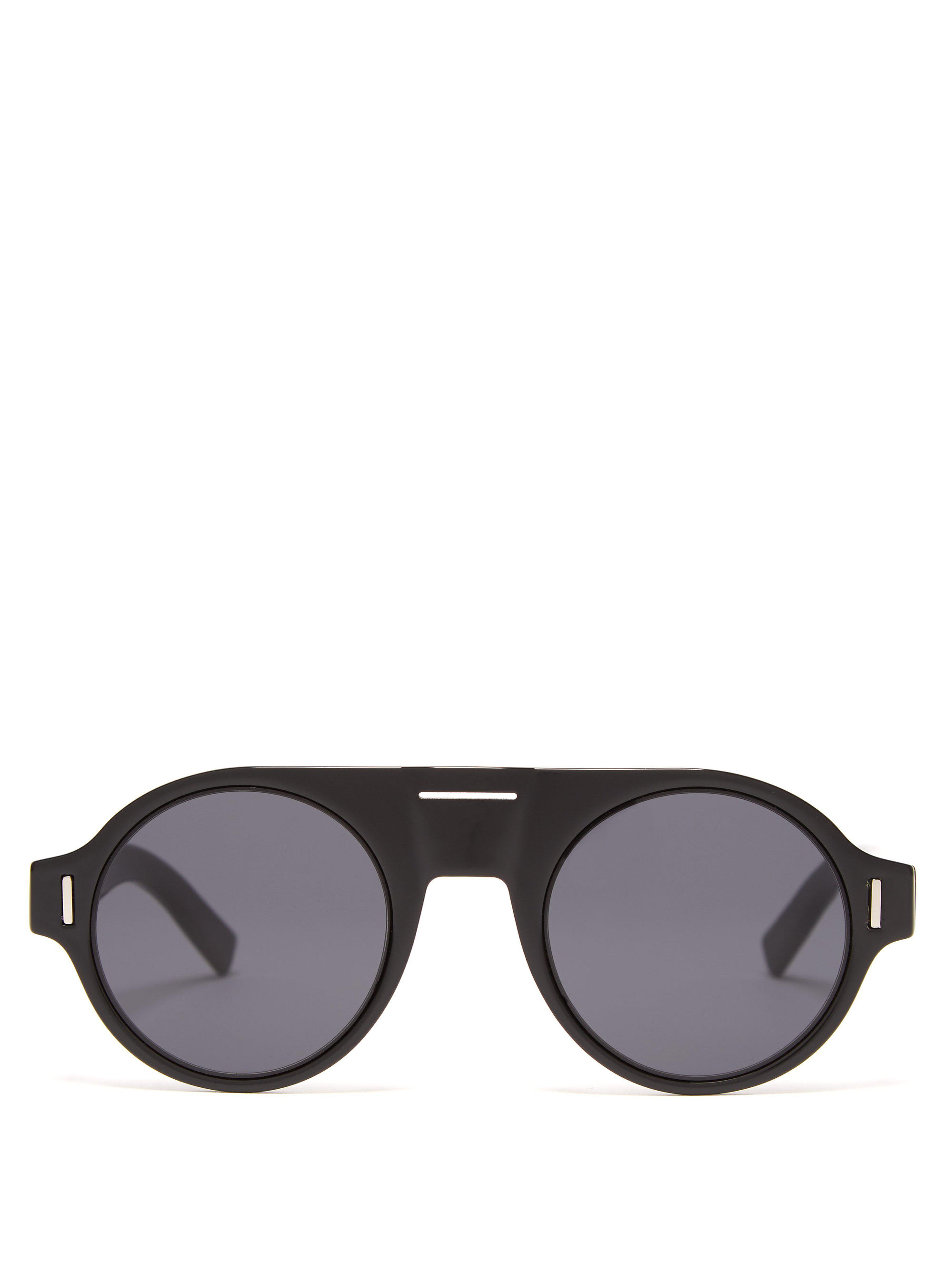 bfcc33bdad1e69 Lyst - Lunettes de soleil rondes en acétate DiorFraction2 Dior Homme ...