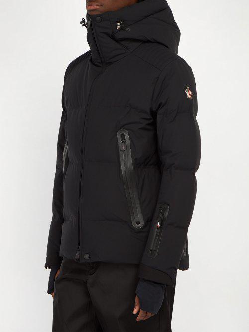 b573069de Moncler Grenoble Black Calaita Hooded Quilted-down Ski Jacket for men