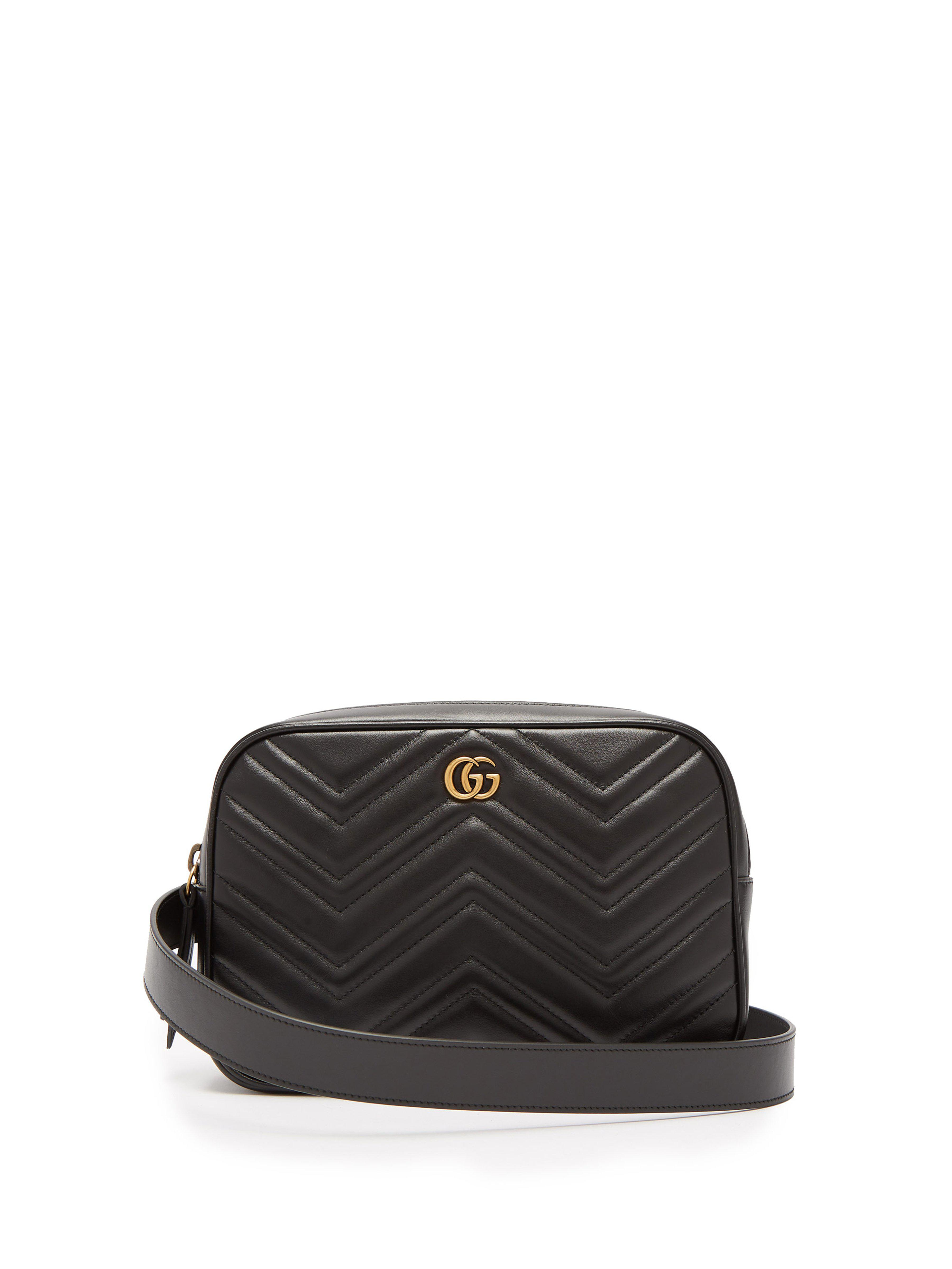 Gucci Gg Marmont Quilted Leather Belt Bag in Black for Men - Lyst 0285271cb790d