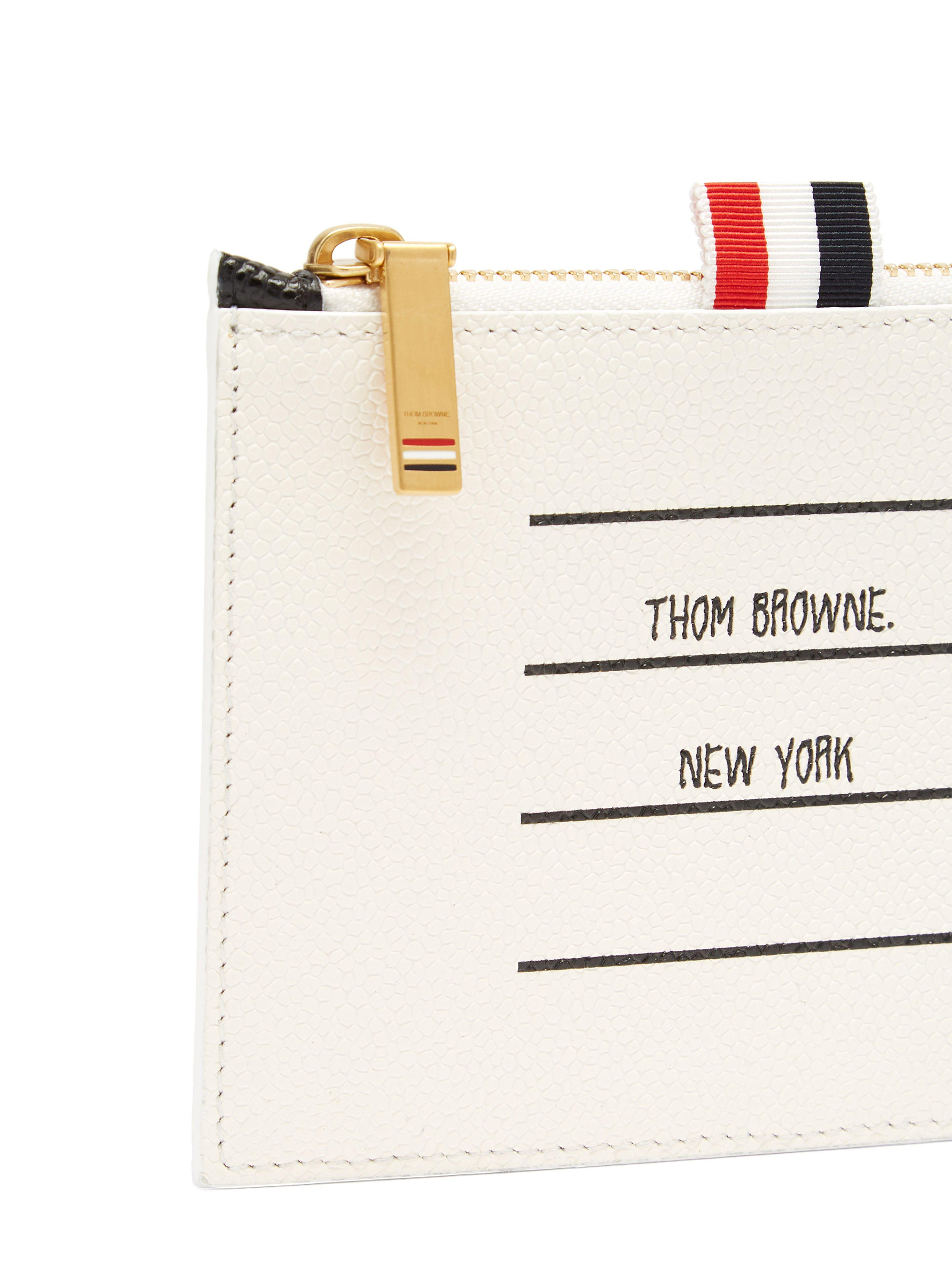 8c42a09ce5f3 Thom Browne - Black Address Label Pebbled Leather Coin Purse for Men -  Lyst. View fullscreen