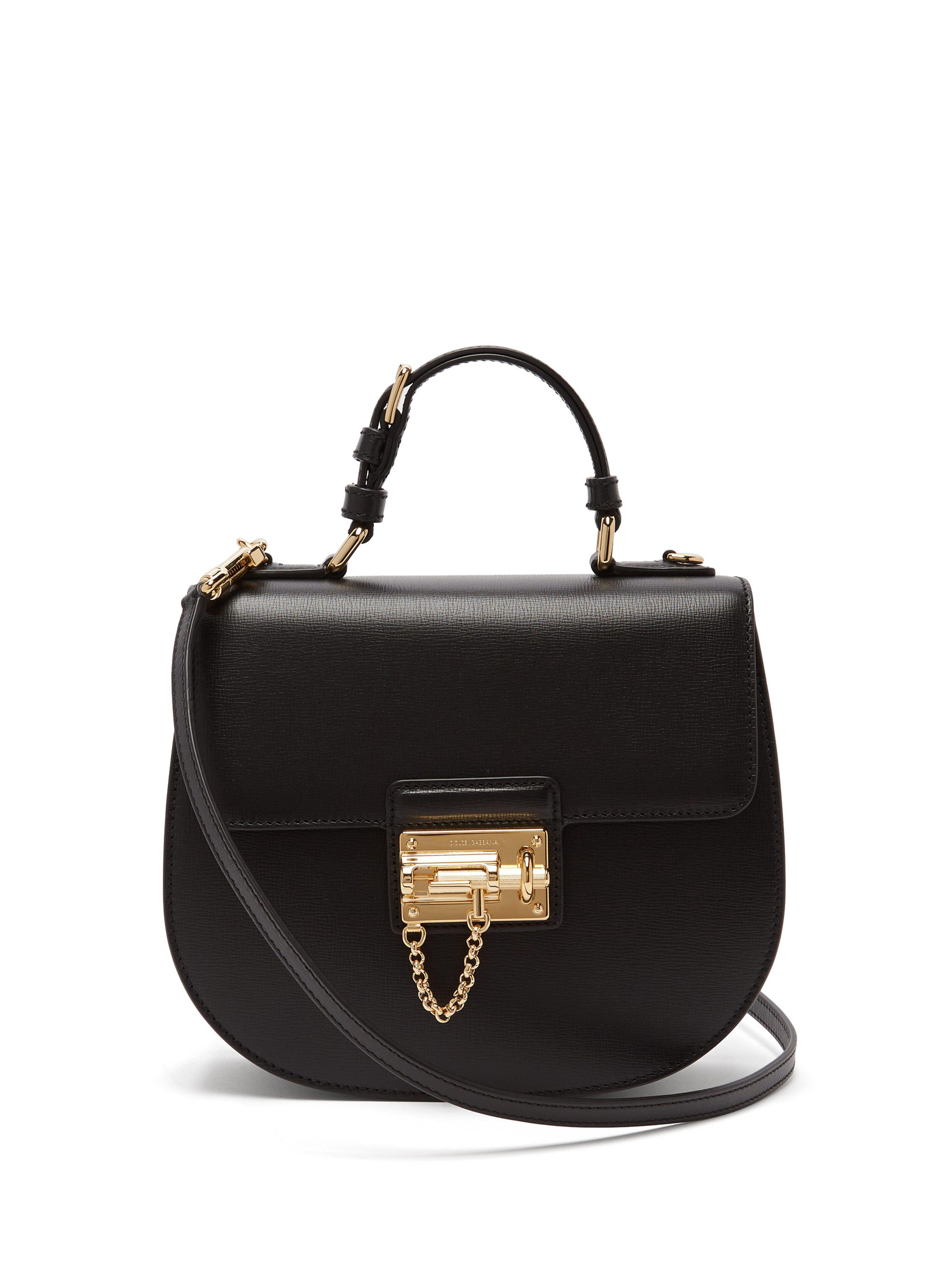 1f09c1a47e Dolce   Gabbana Monica Vintage Leather Bag in Black - Lyst