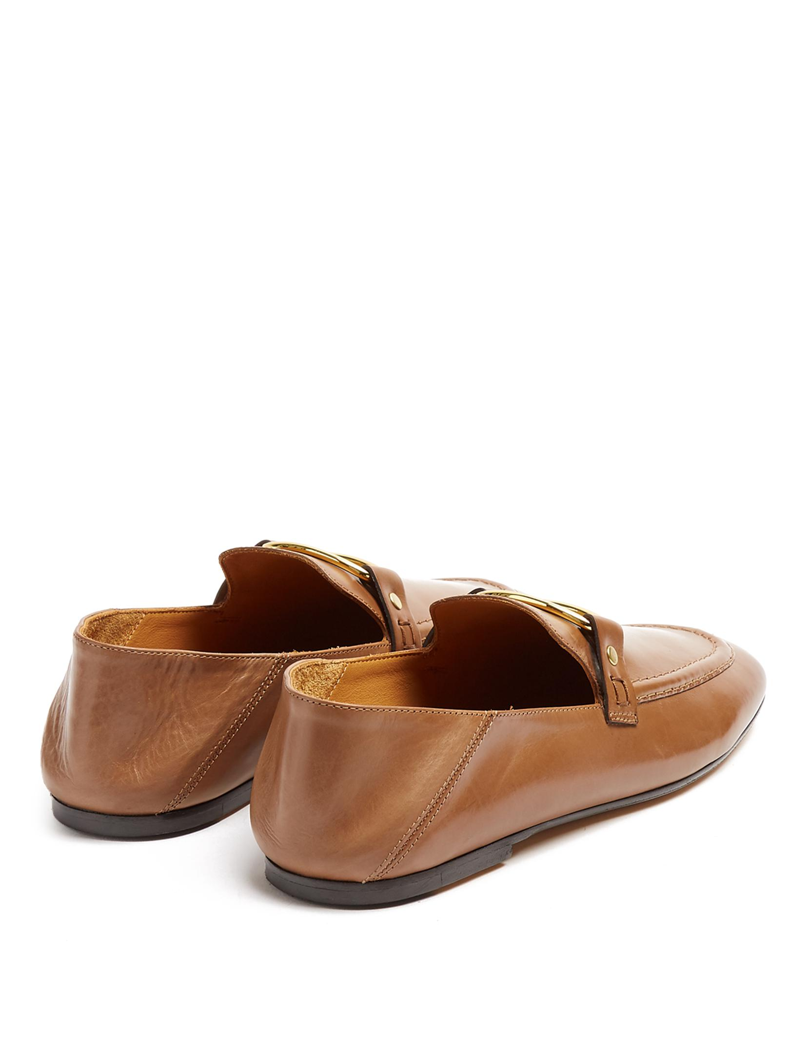 0d19ab4033b Lyst - Isabel Marant Ferlyn Collapsible-heel Leather Loafers in Brown