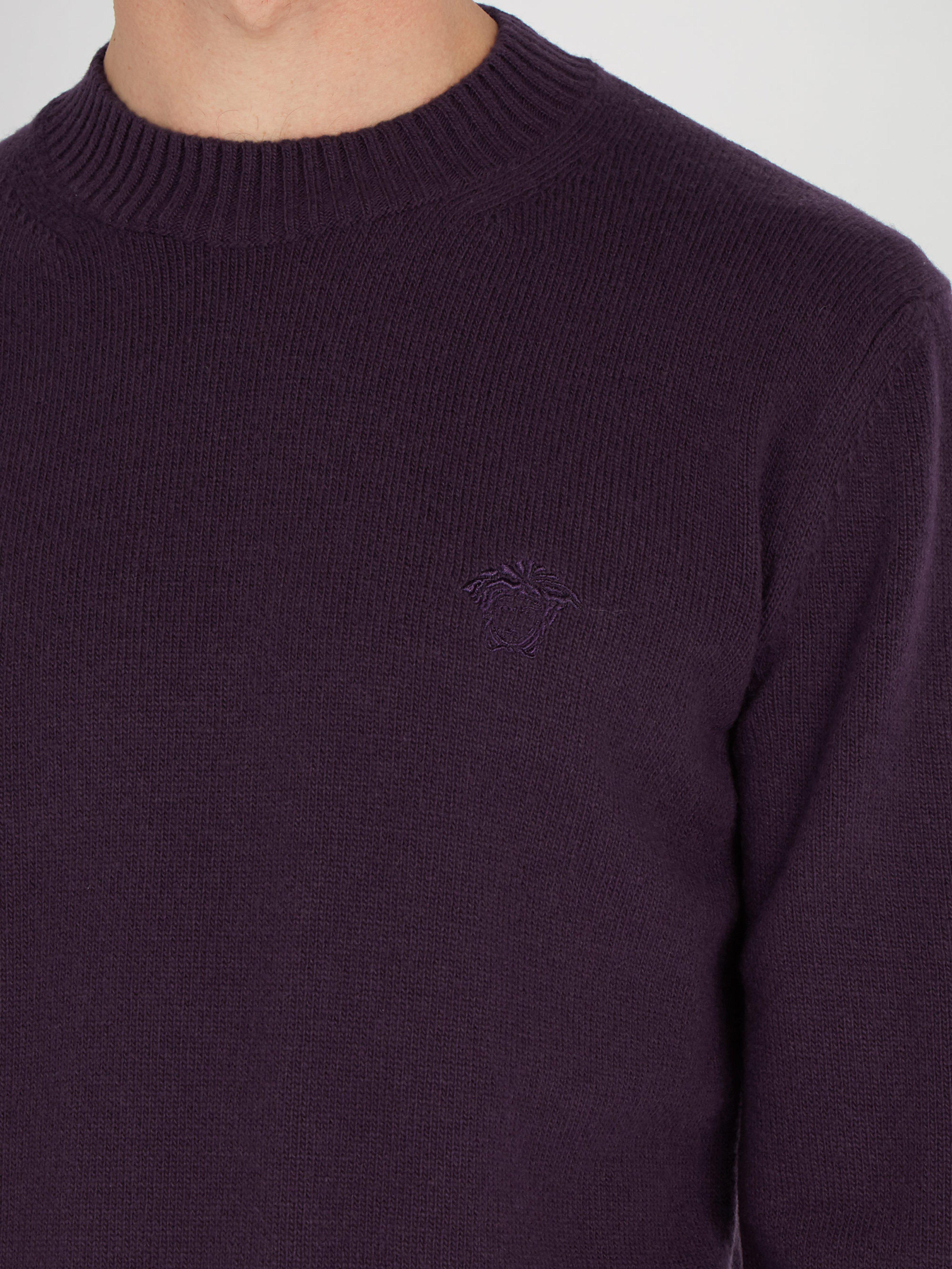 lana de Medusa Lyst Versace hombres bordado para suéter Purple qH6xFw cc8c2276e500