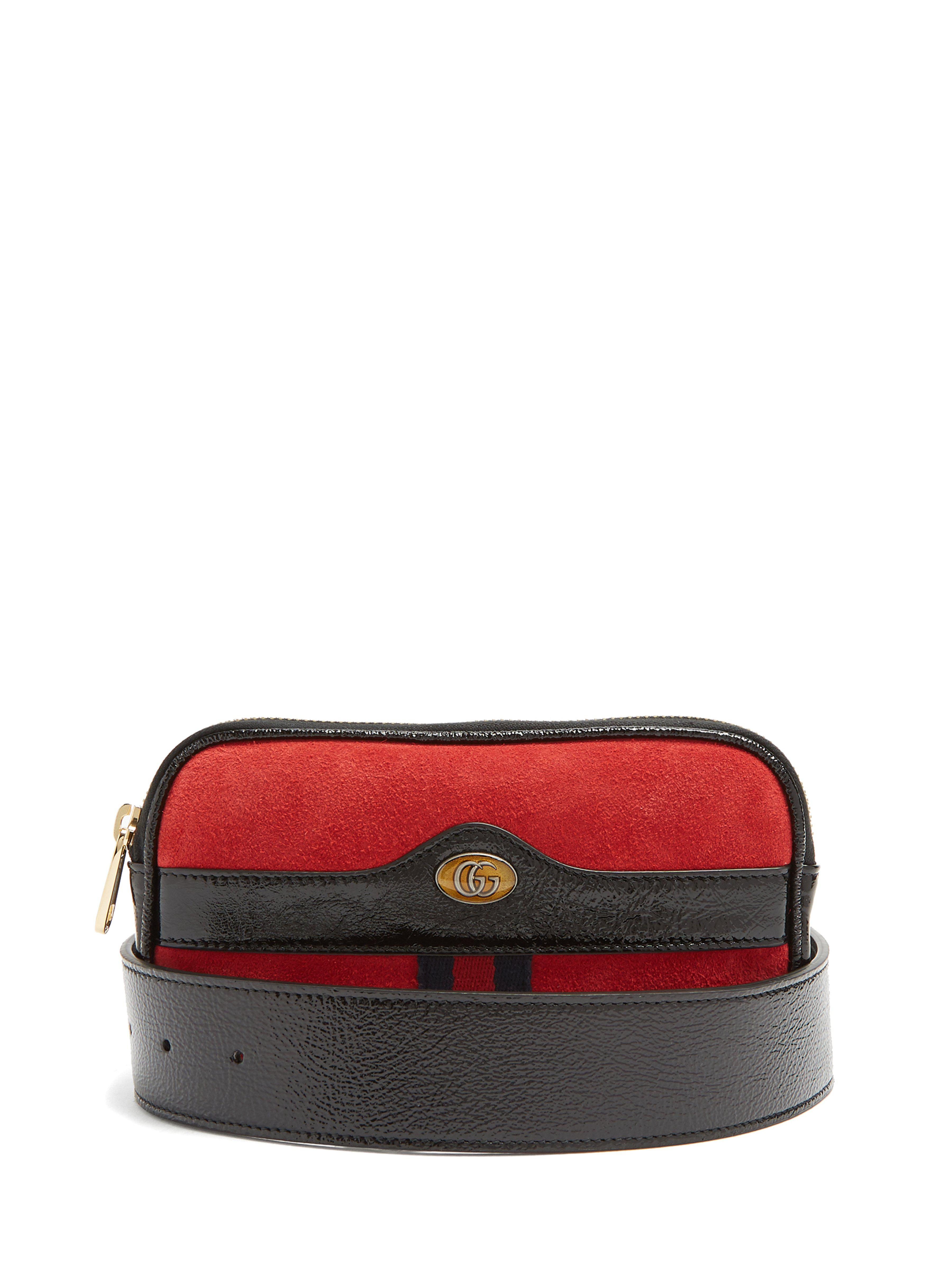 74c7dd71c16 Gucci Ophidia Small Suede Belt Bag in Red - Lyst