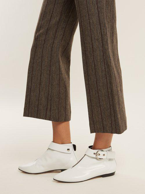 Isabel Marant Rilows Point-toe Leather Ankle Boots in White