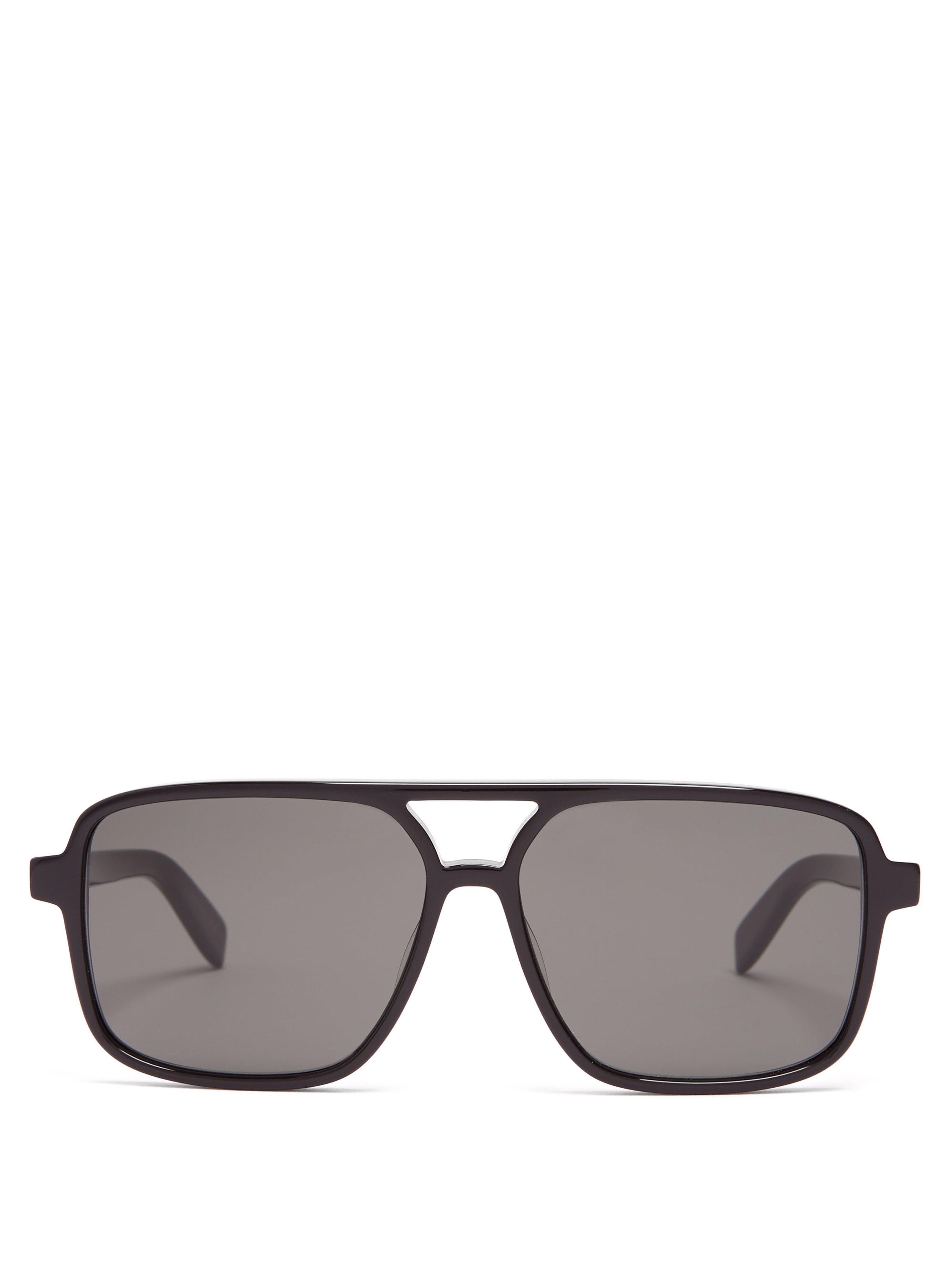 1642d601f45f Saint Laurent D Frame Acetate Sunglasses in Black for Men - Lyst