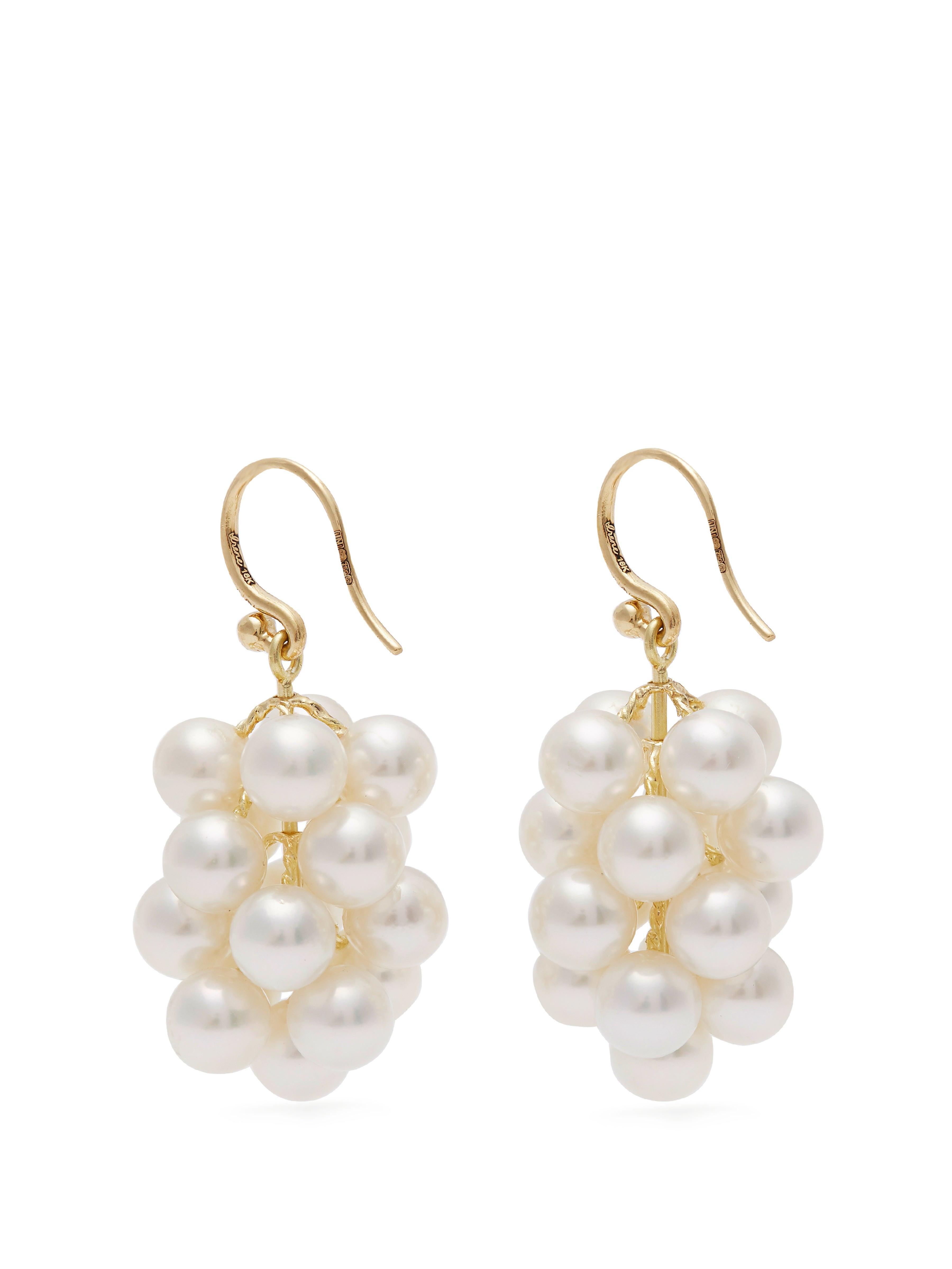 Irene Neuwirth Diamond, Emerald & Rose-gold Earring in Pearl (Metallic)