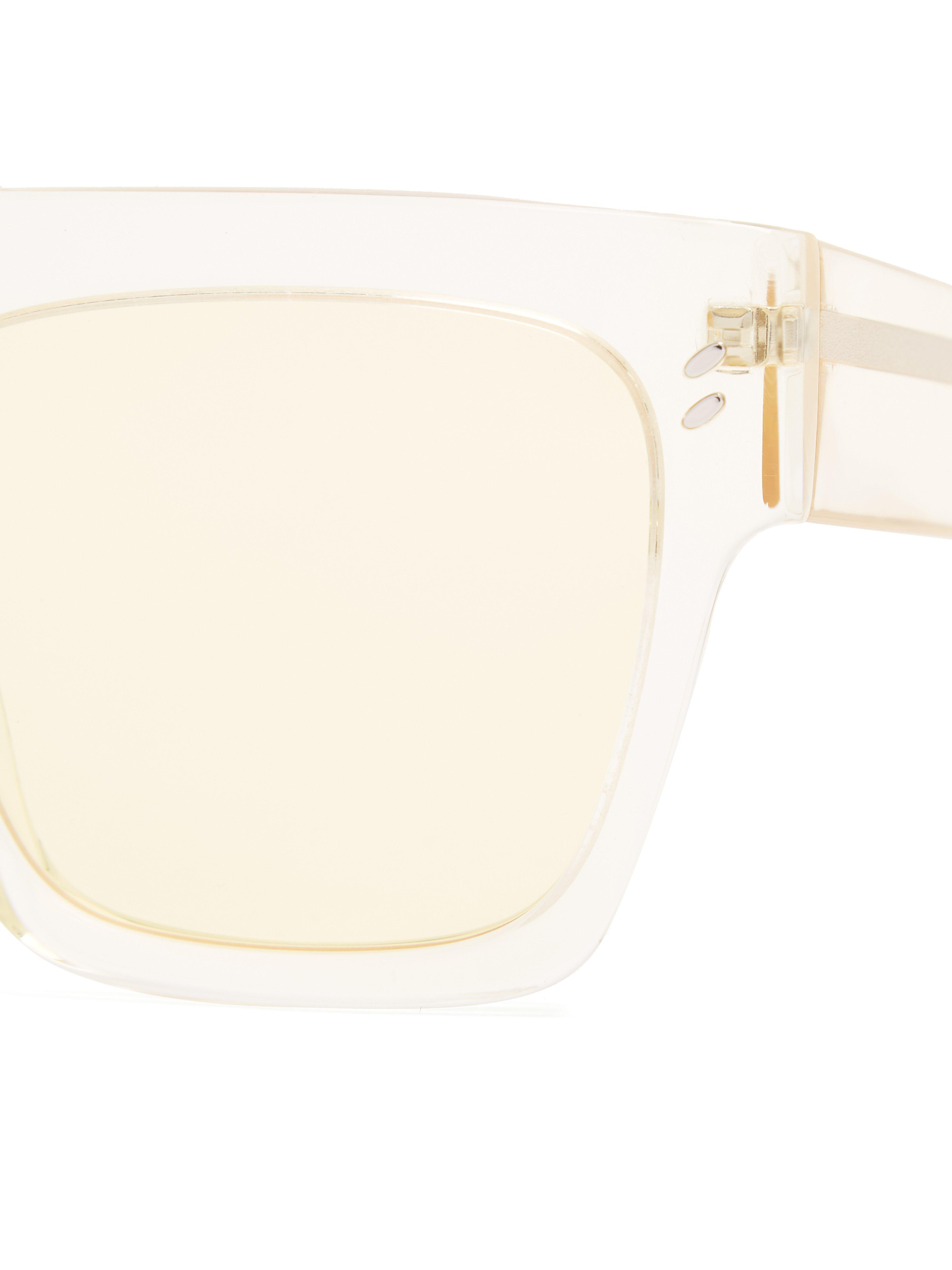 Stella McCartney Flat-top D-frame Sunglasses in Yellow