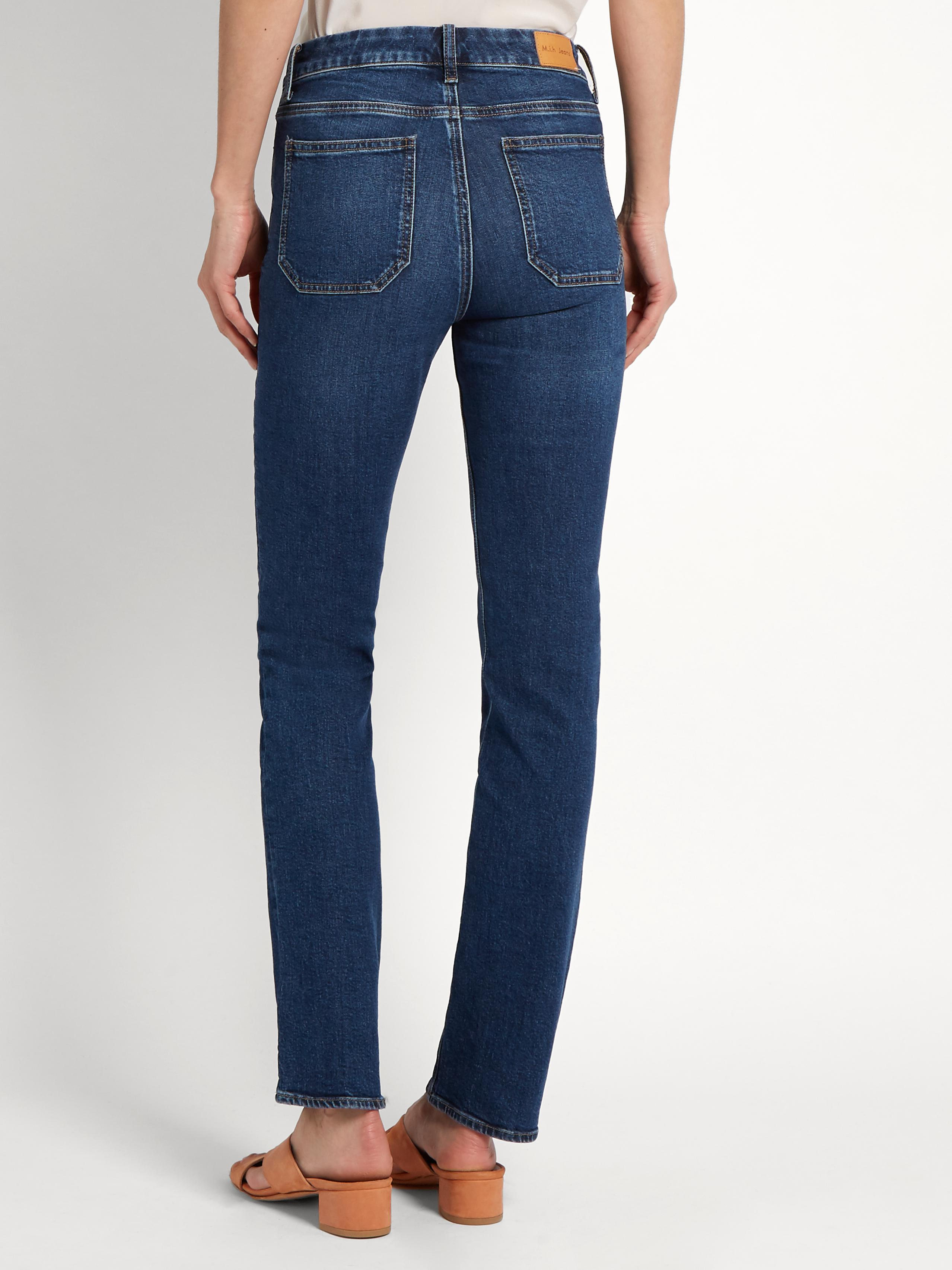 M.i.h Jeans Denim Daily High-rise Straight-leg Jeans in Dark Denim (Blue)