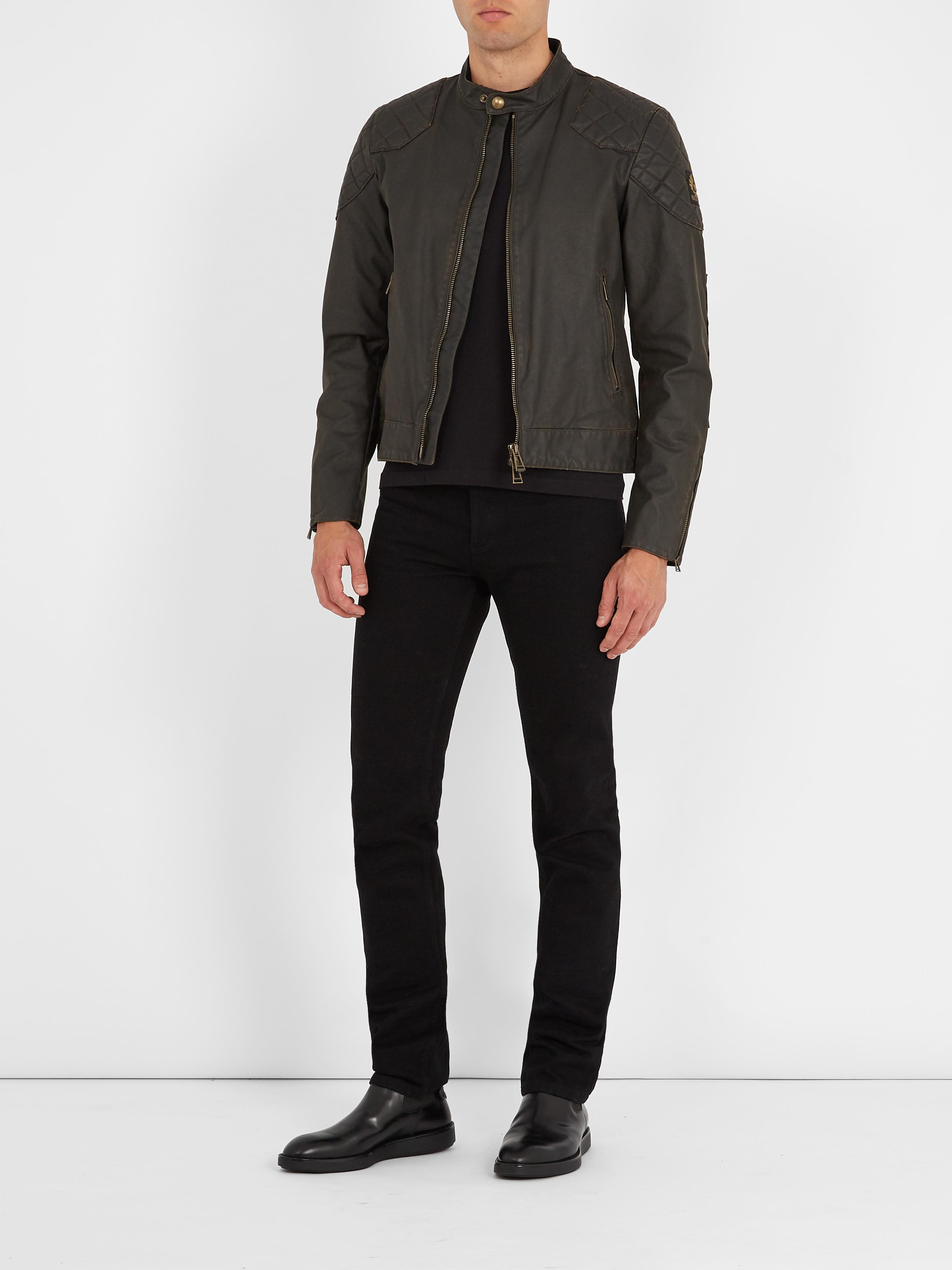 067418f4f8 Belstaff Outlaw Waxed Cotton-blend Jacket in Black for Men - Lyst