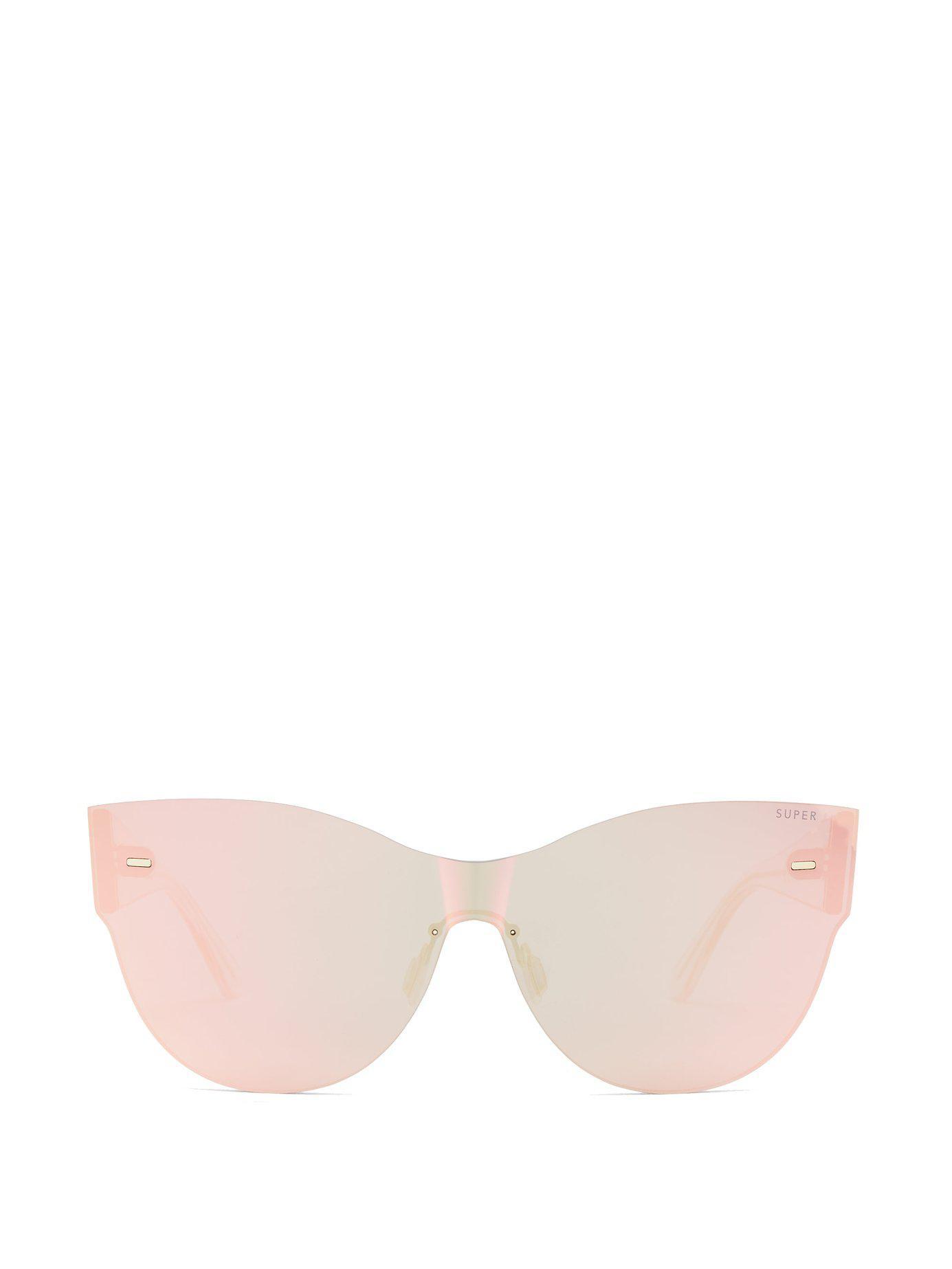 0bd6949b8322 Lyst - Retrosuperfuture Screen Kim Mirrored Cat-eye Sunglasses in Pink