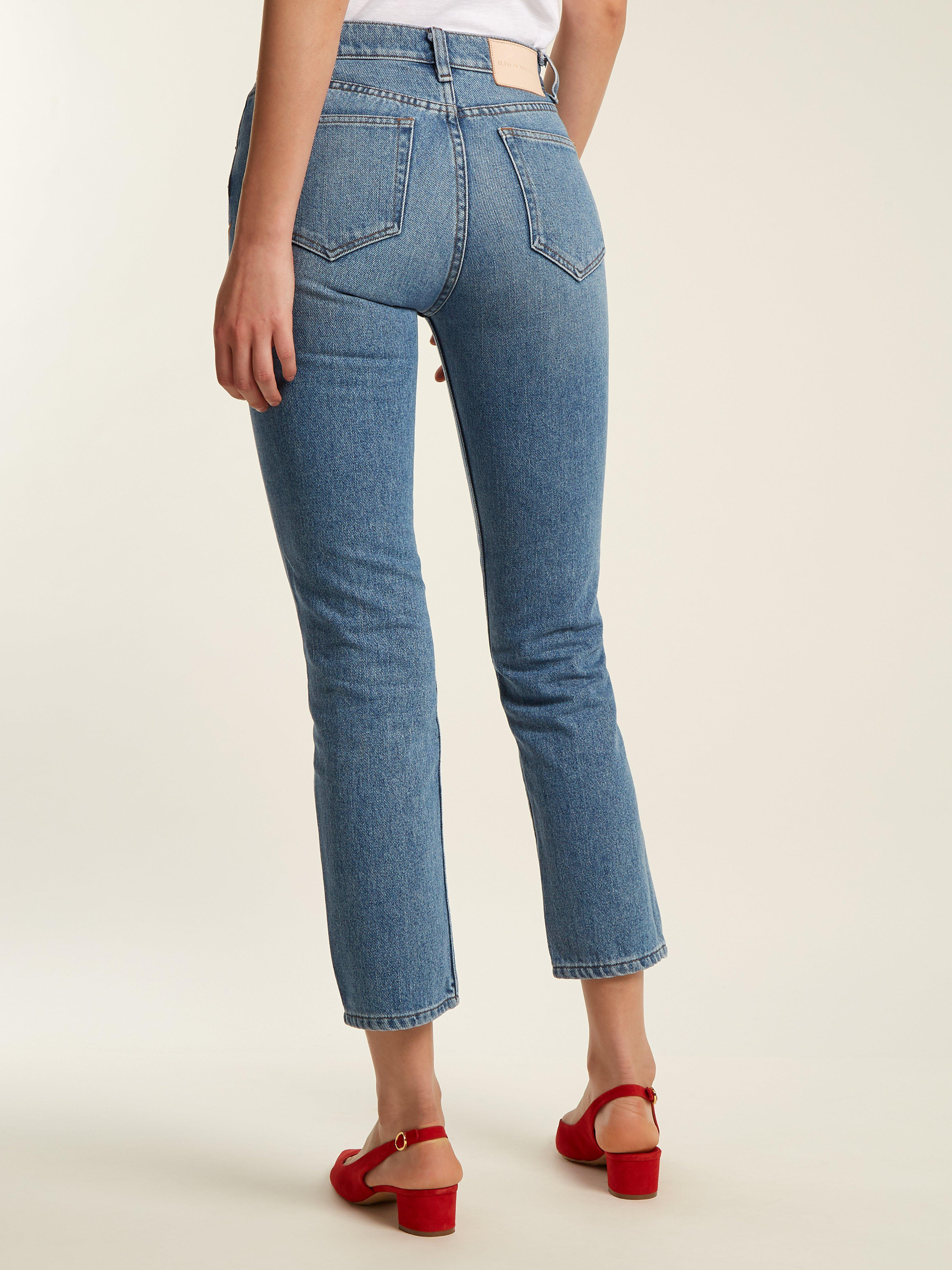 Bliss and Mischief Denim Collector-fit High-rise Jeans in Denim (Blue)