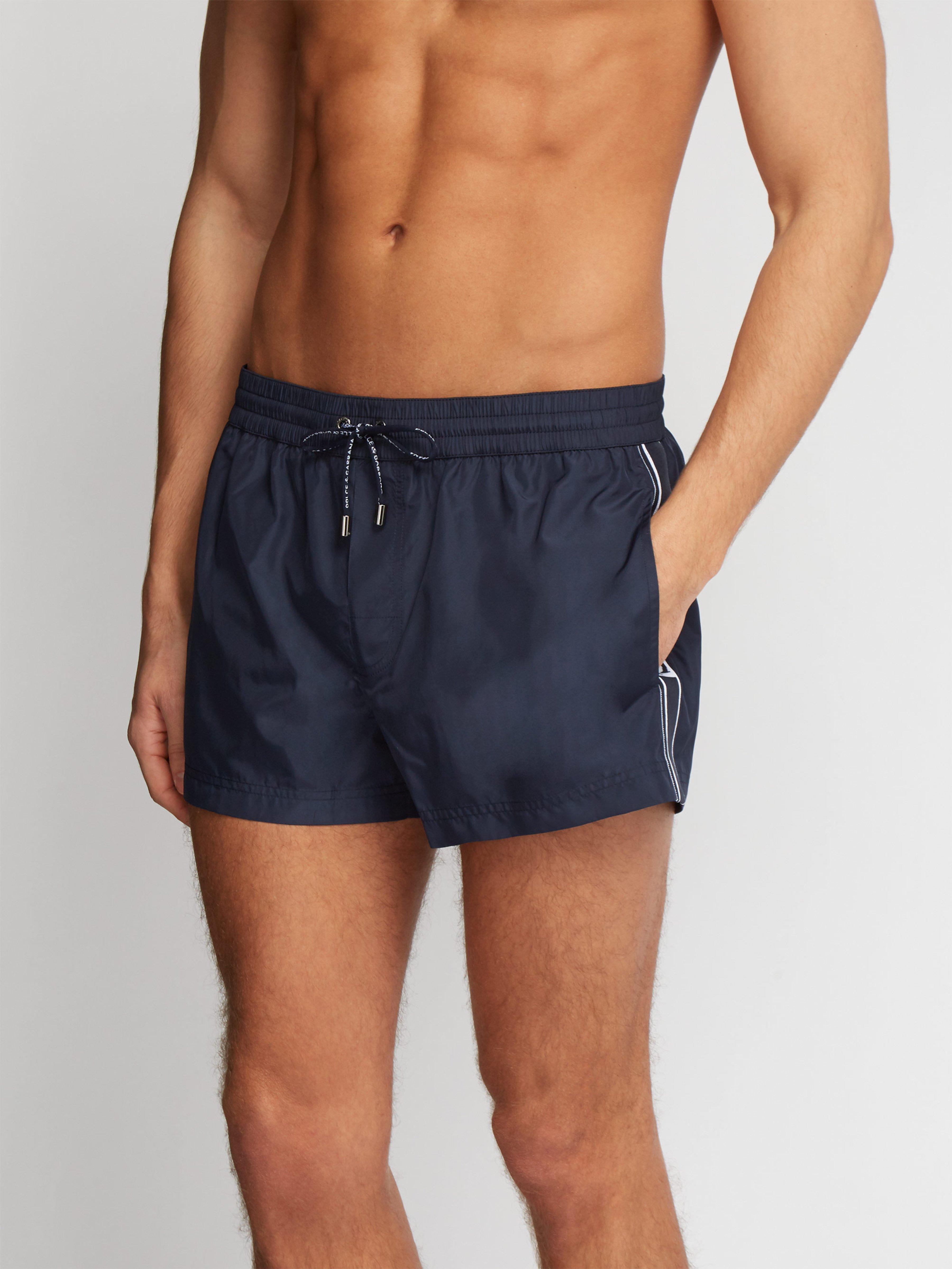 887e2cfcb1 Dolce & Gabbana Side Stripe Swim Shorts in Blue for Men - Lyst