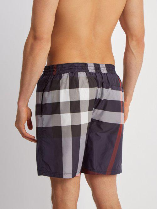4eb0bafb3a Burberry House-check Straight-leg Swim Shorts in Blue for Men - Lyst