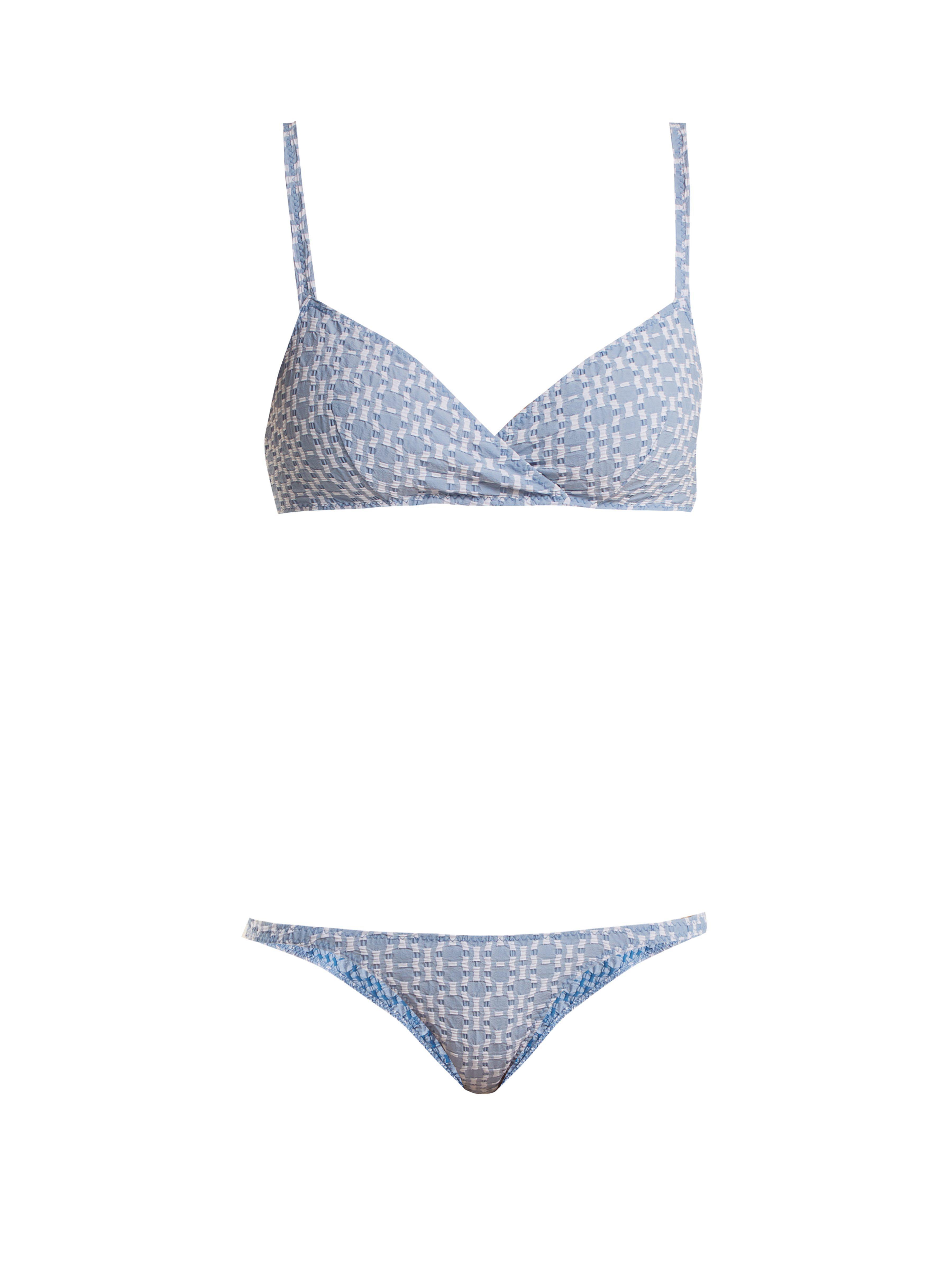 7a0581cbfc Lisa Marie Fernandez Yasmin Geometric Pattern Bikini in Blue - Lyst