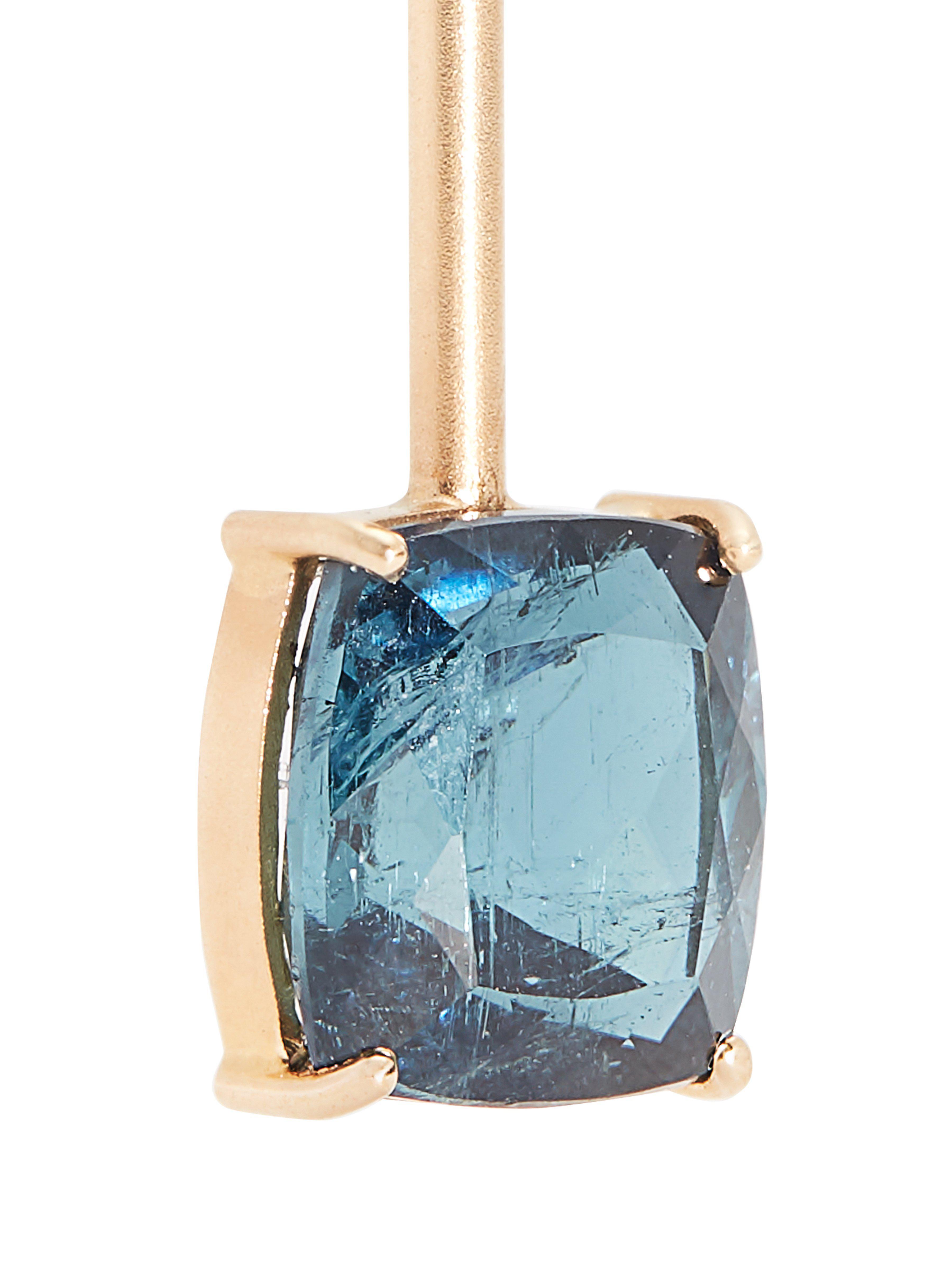 Irene Neuwirth Diamond, Tourmaline & Rose Gold Earring in Metallic