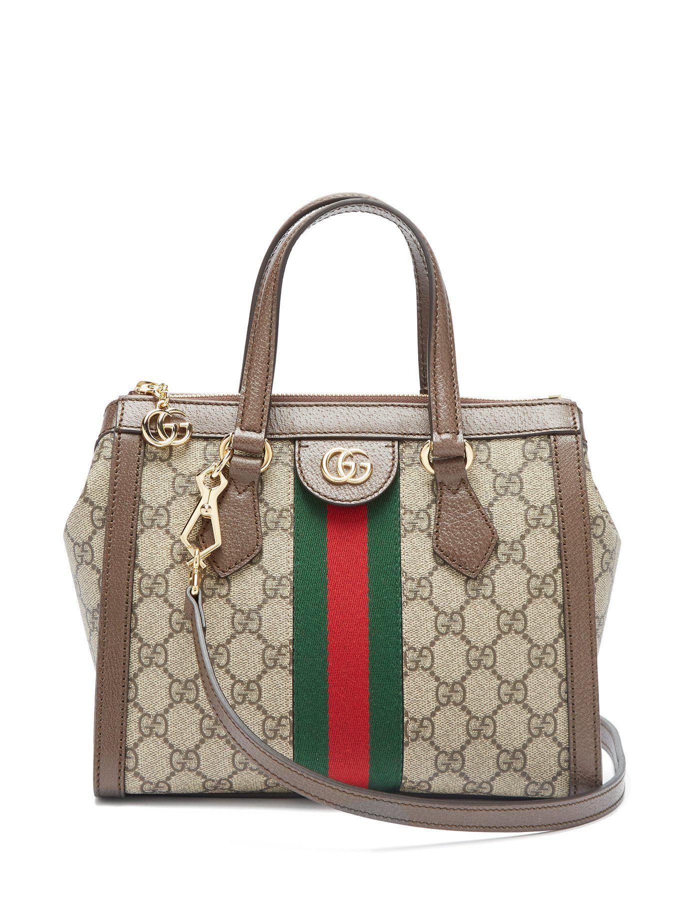 91f6262c6f0 Lyst - Gucci Ophidia Gg Supreme Canvas Cross Body Bag in Gray