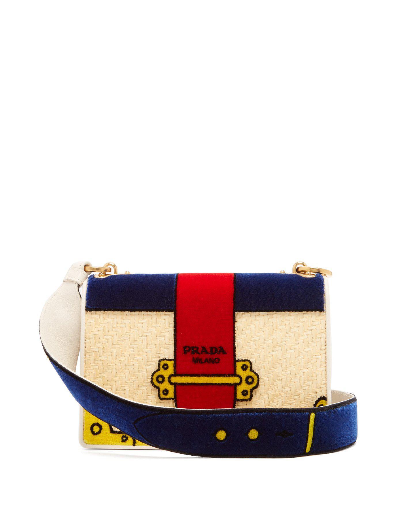 131261917c7c Lyst - Prada Cartoon Velvet Cross-body Bag