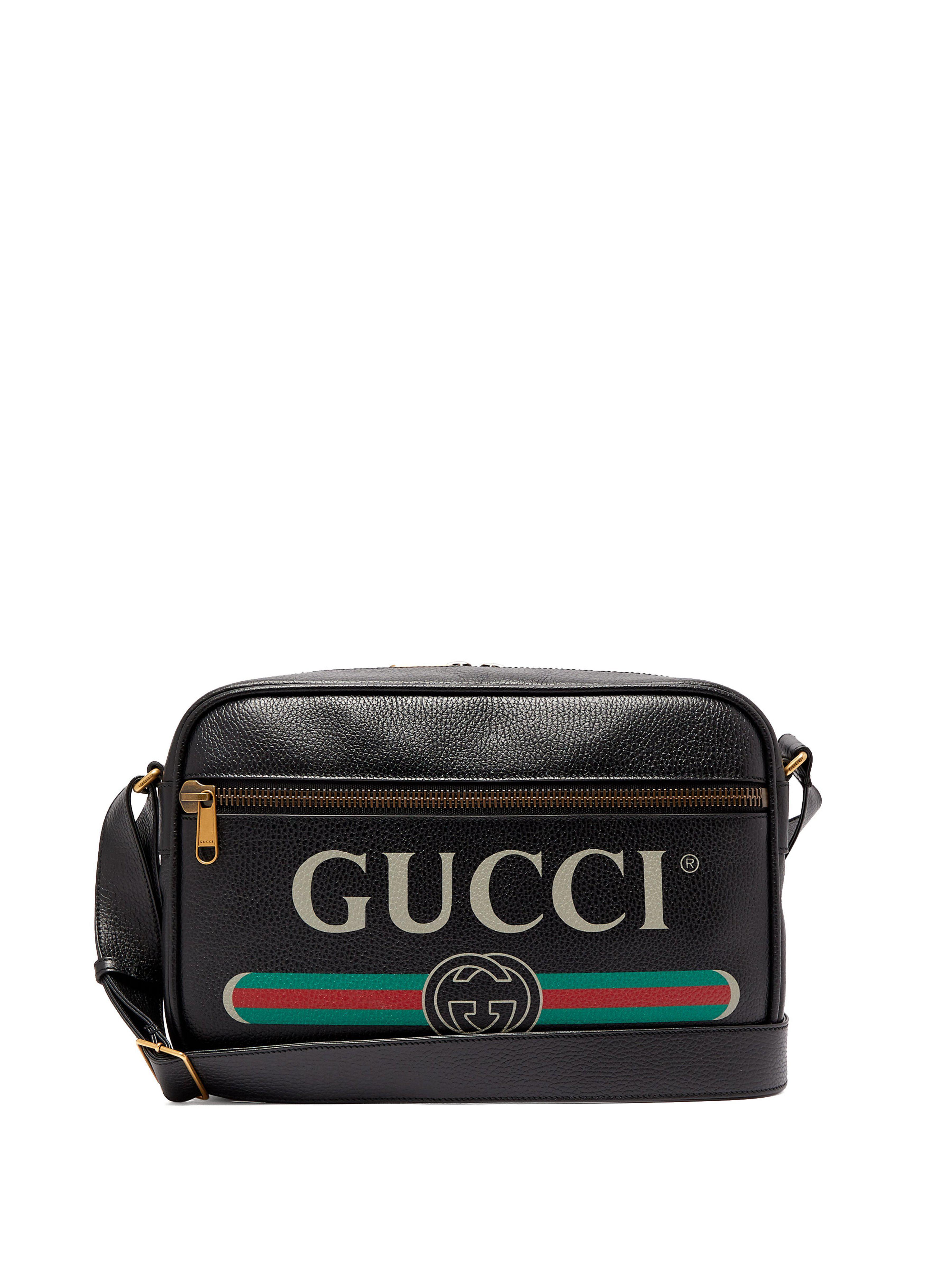 271e7ed5071 Gucci - Black Print Shoulder Bag for Men - Lyst. View fullscreen