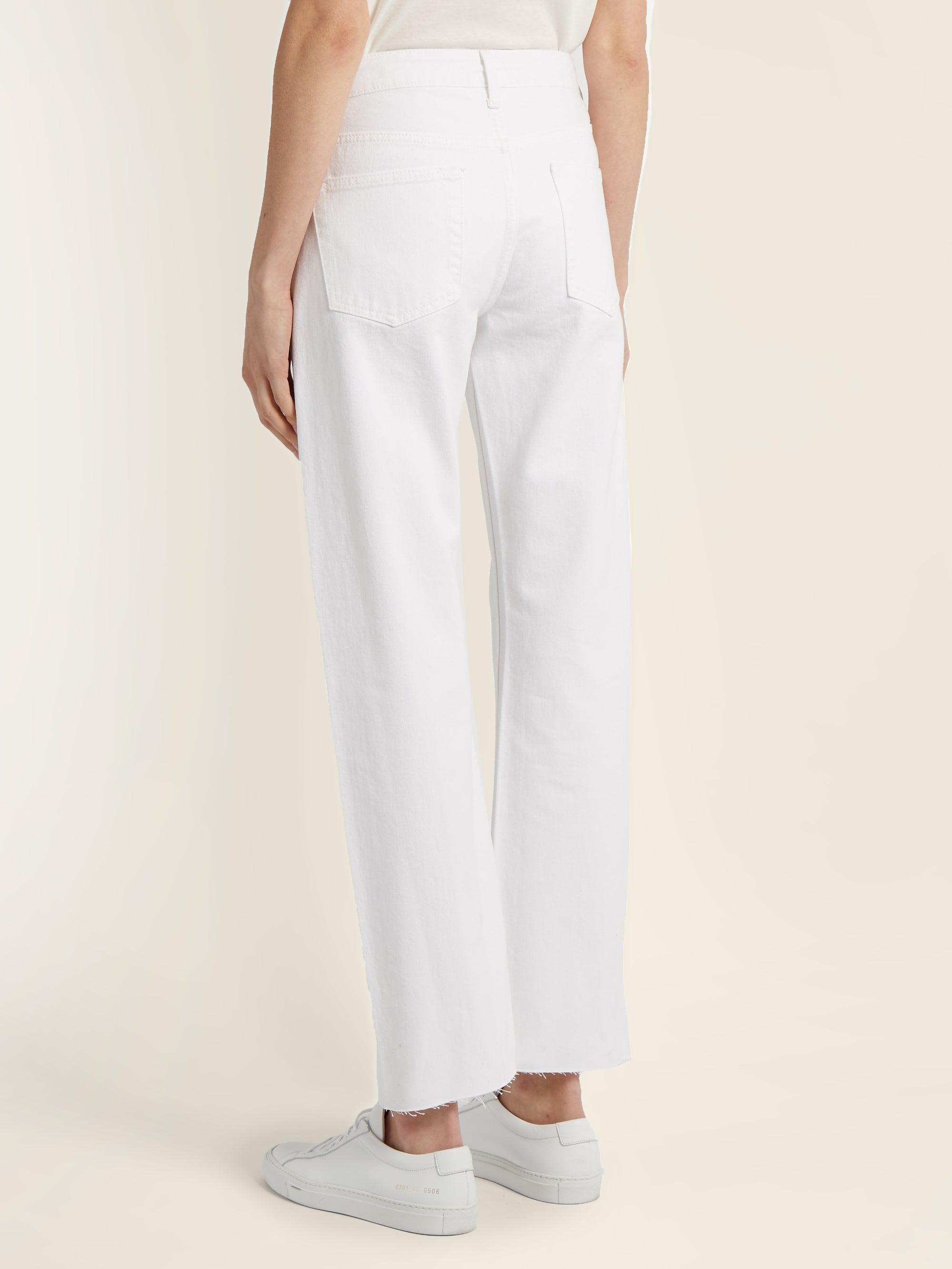 Raey Denim Press Straight-leg Jeans in White