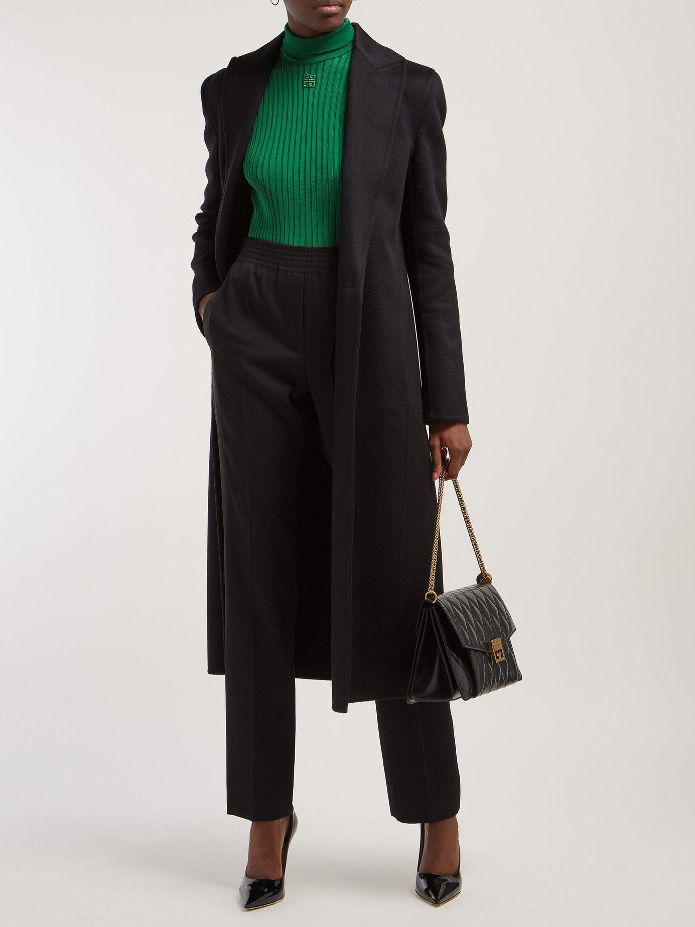 Givenchy - Black Satin Stripe Tailored Wool Trousers - Lyst. View fullscreen e33823de52e7c
