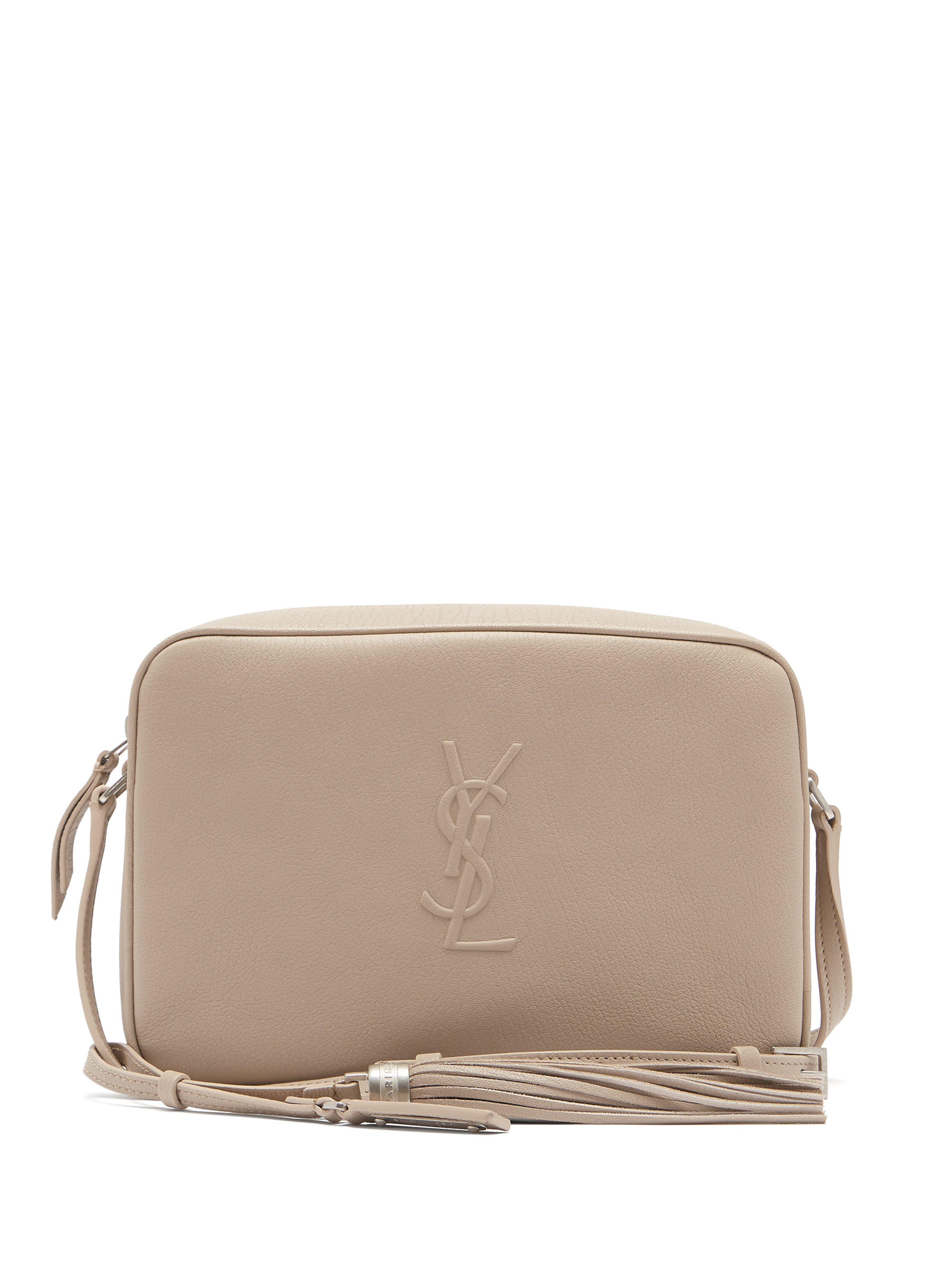 000635176252 Saint Laurent Lou Monogram Leather Cross Body Bag in Natural - Lyst