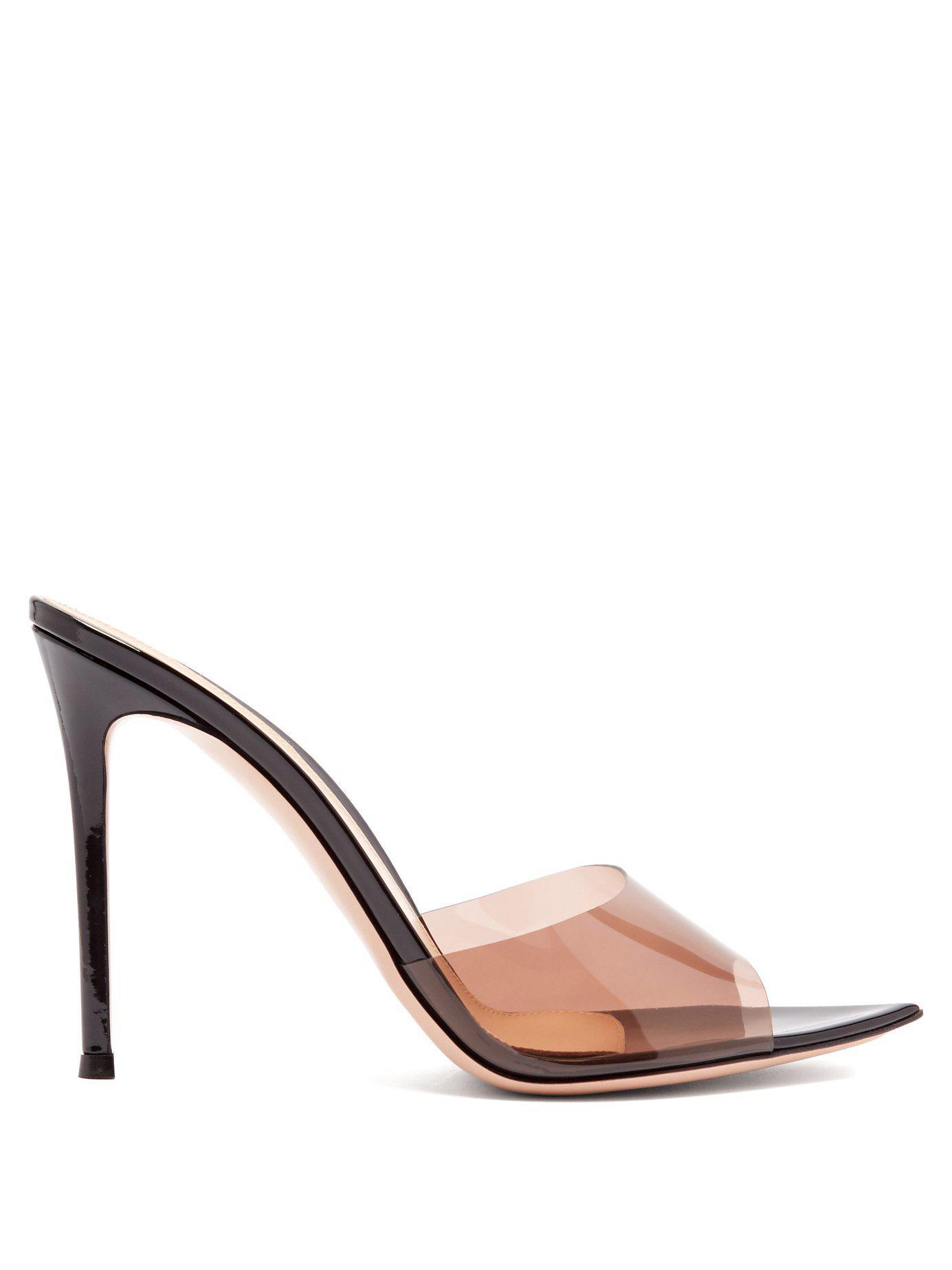 c3e0eb5ed87 Lyst - Gianvito Rossi Elle 105 Patent Leather Mules