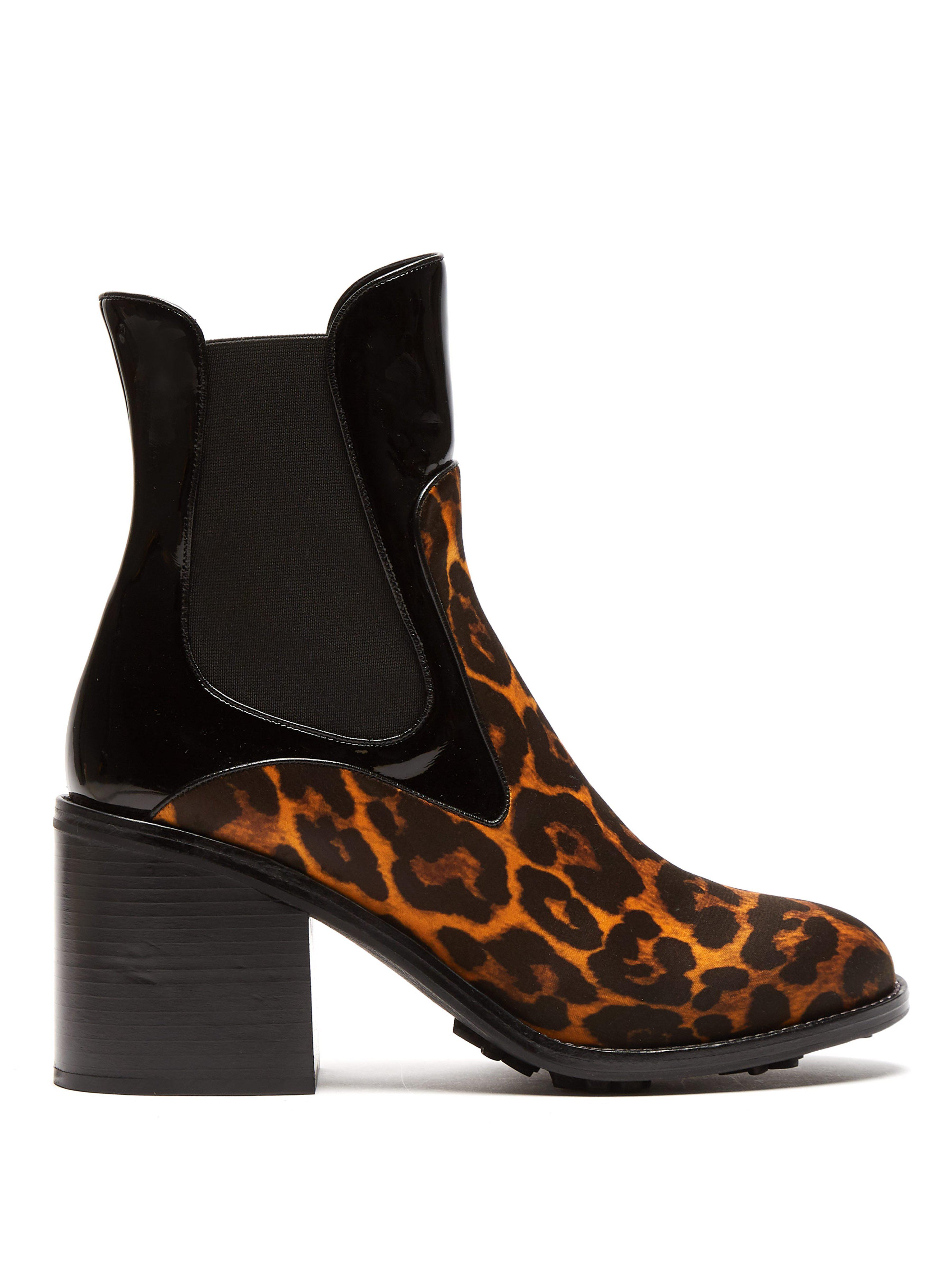 0bda6095478f7 Fabrizio Viti Madison Leopard Print Leather Ankle Boots in Brown - Lyst