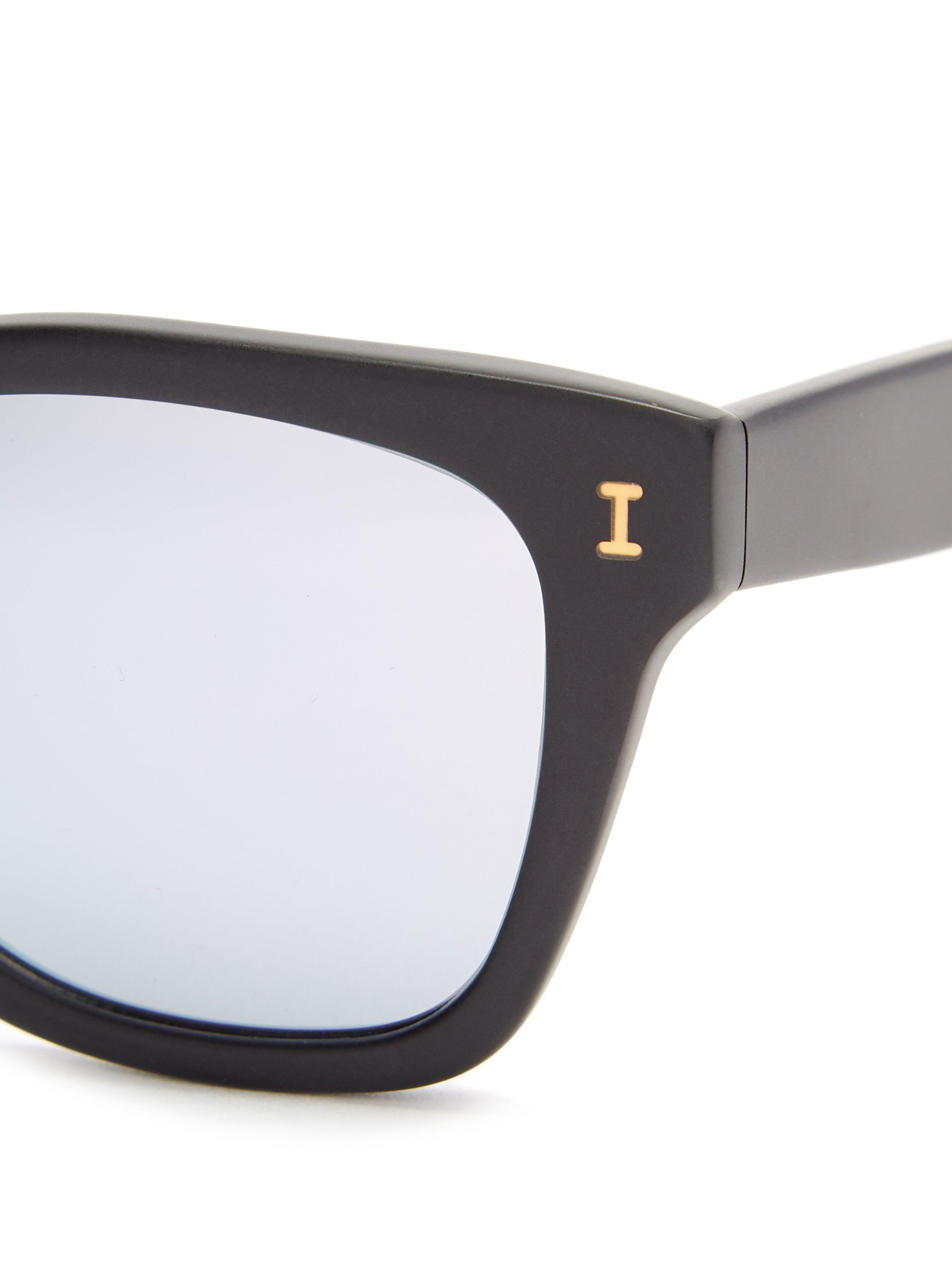 4fce88636f Illesteva - Black Positano Rounded Square Acetate Sunglasses for Men -  Lyst. View fullscreen