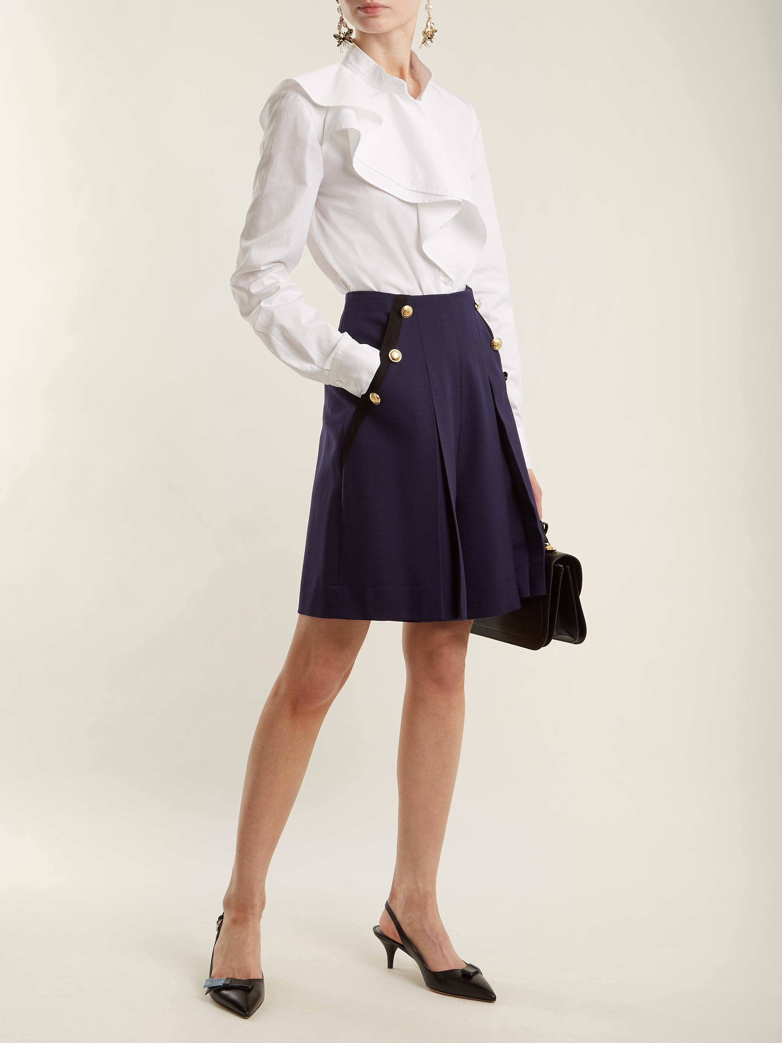 High-rise wide-leg stretch-wool shorts Lanvin mH0xDsOmmn