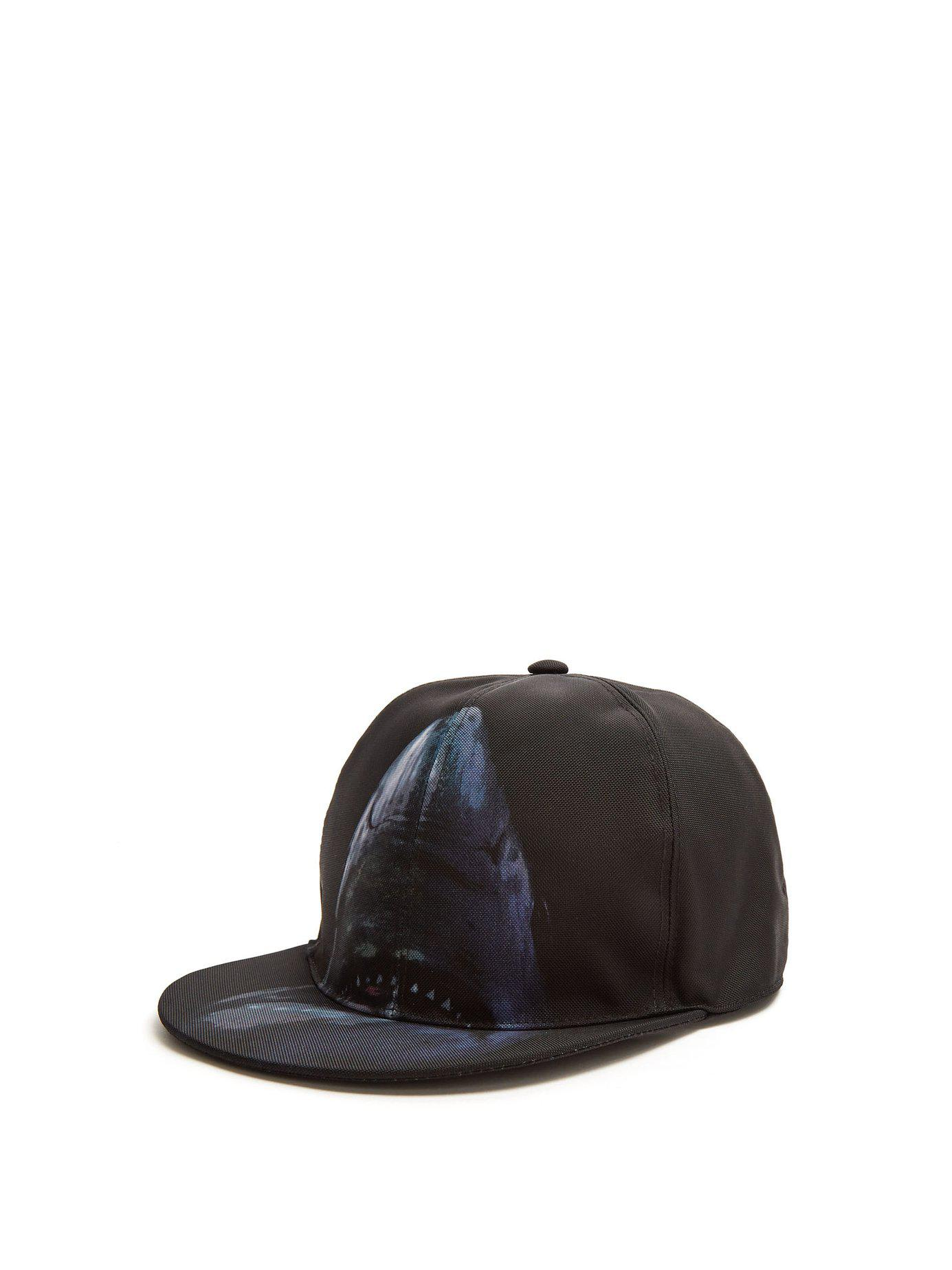 Lyst - Givenchy Shark Print Panel Cap in Black for Men - Save 75% 7caf18e28427