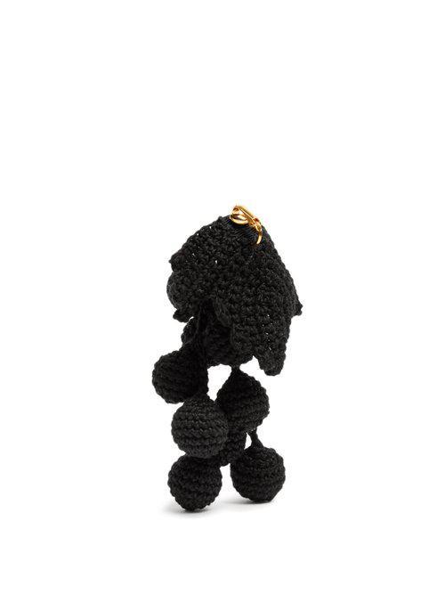 Rosie Assoulin Wool Manishewitz Crochet Earring in Black