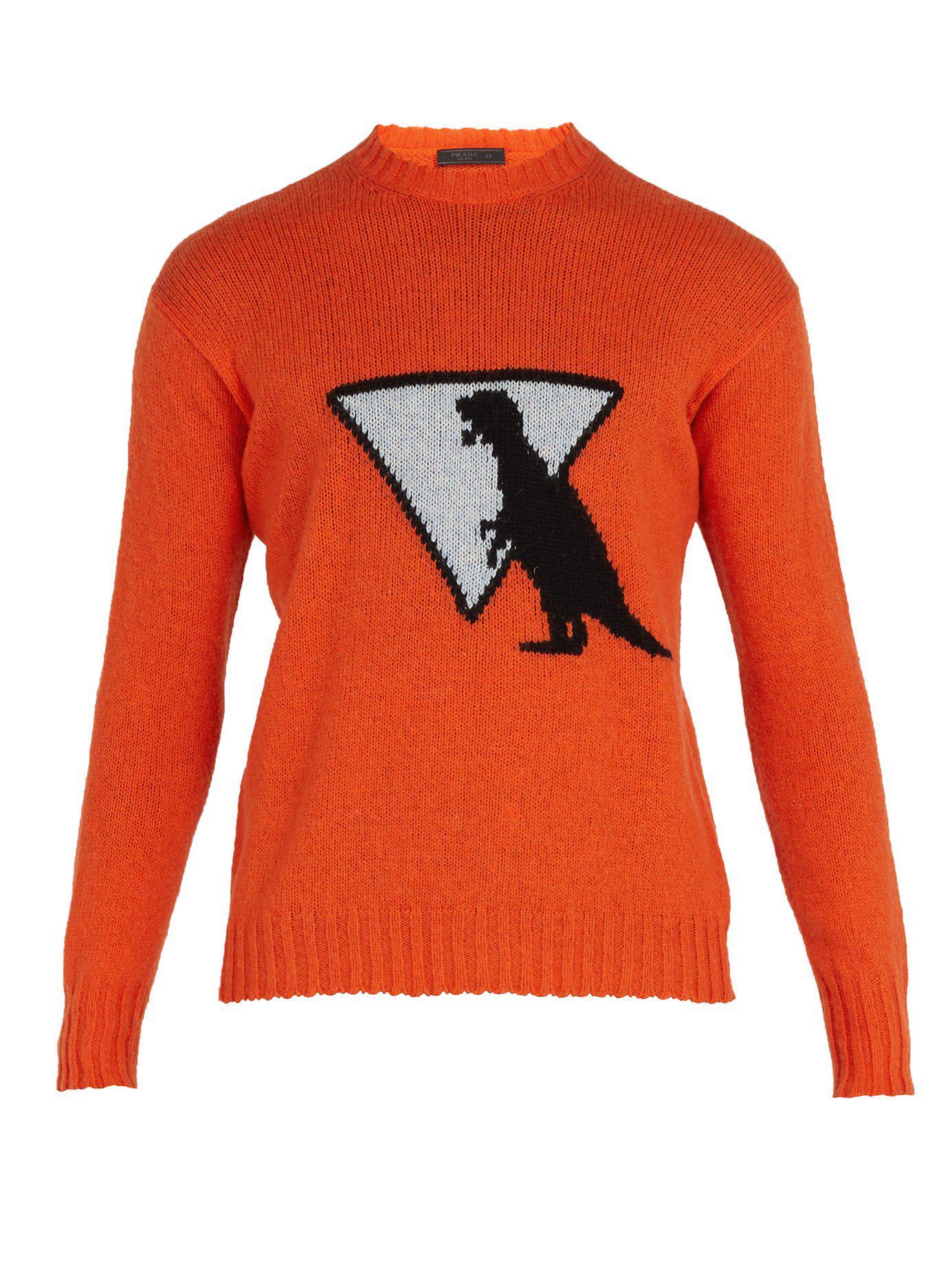 pas cher pour réduction ee244 4b533 Pull Homme Motif Dinosaure Laine À Pour Coloris En Orange ...