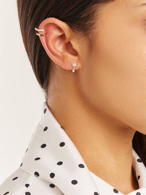 Maria Tash Diamond & Yellow-gold Single Earring in Yellow Gold (Metallic)