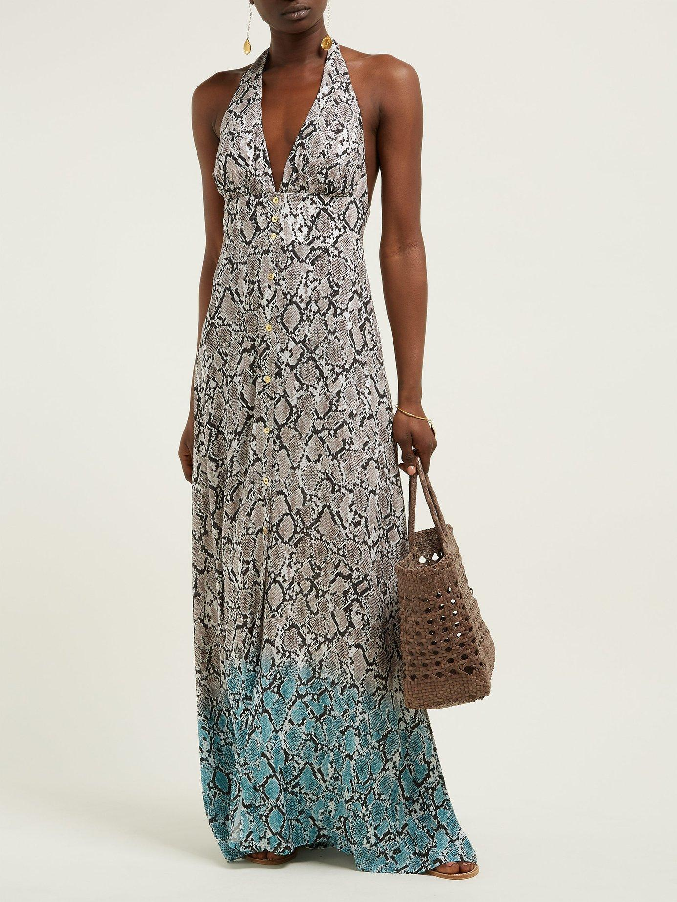 636b2f2d5a Lyst - Heidi Klein Mozambique Snakeskin Print Maxi Dress