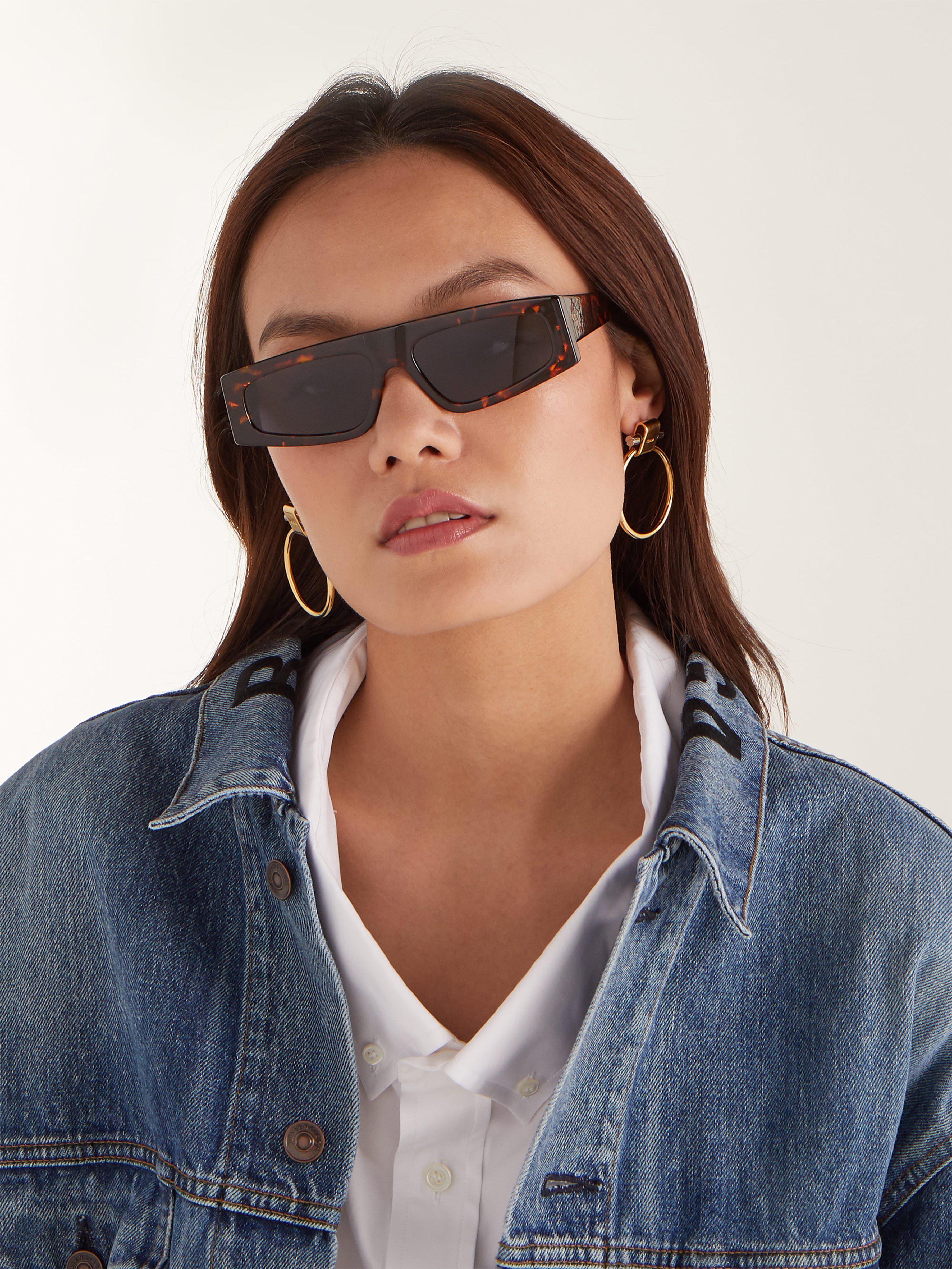 58c990568ddb Dior Power Tortoiseshell Acetate Sunglasses in Blue - Lyst