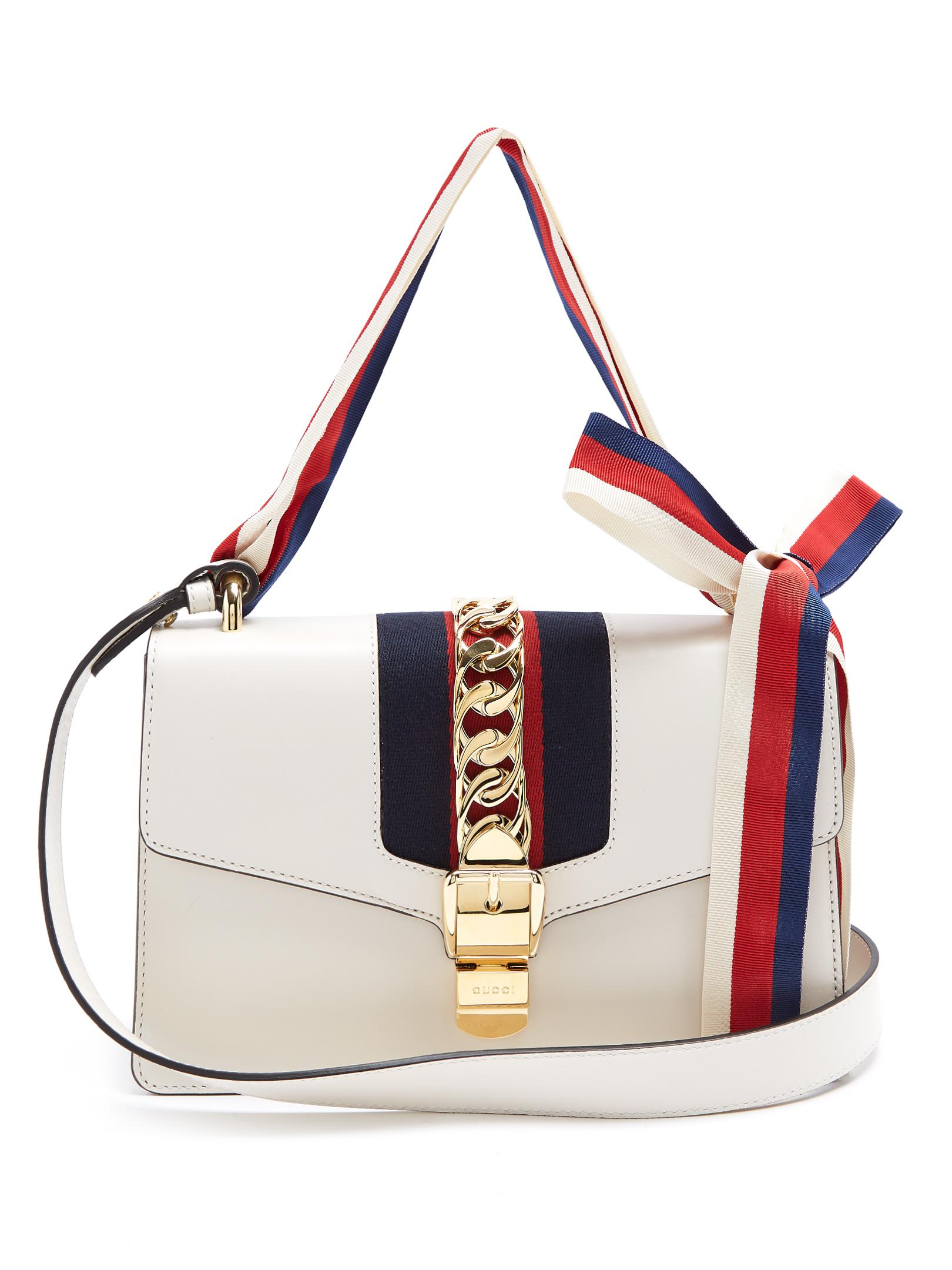 3cf86975f29163 Gucci Sylvie Leather Shoulder Bag White | Stanford Center for ...