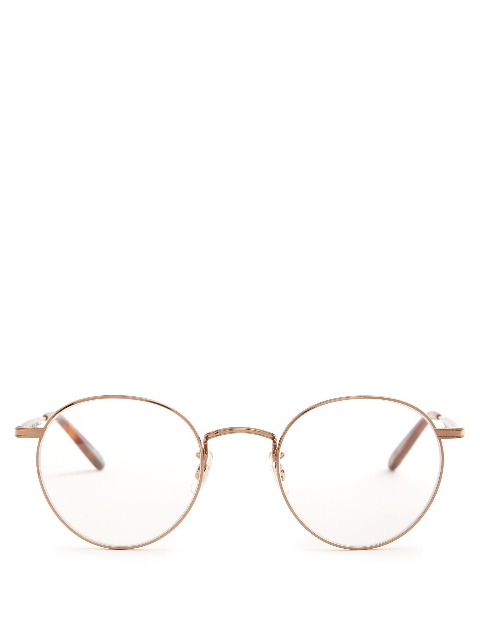 Wilson 49 round-frame glasses Garrett Leight smF36Bp