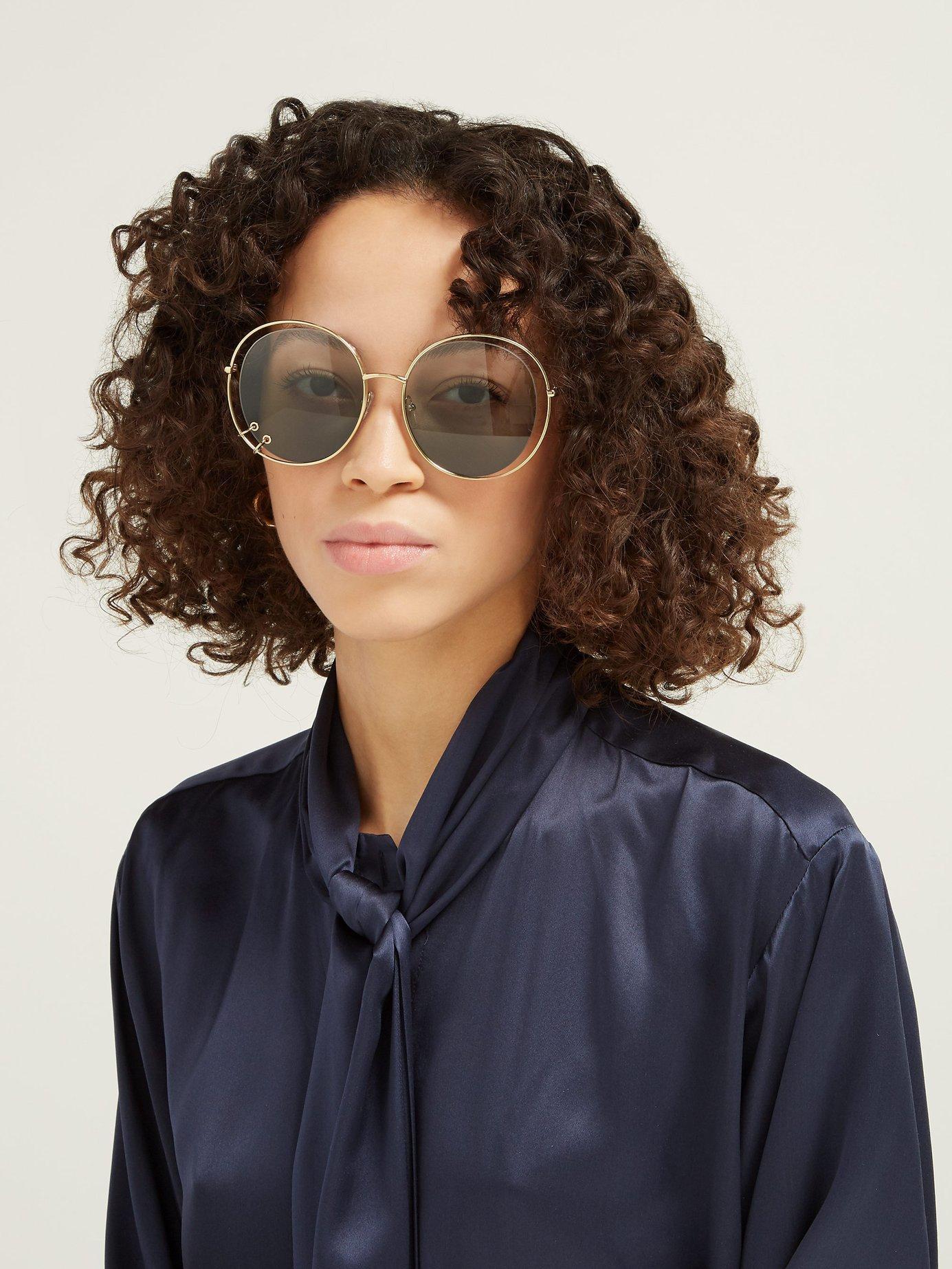 376a8236c12 ... Carlina Oversized Round Sunglasses - Lyst. View fullscreen