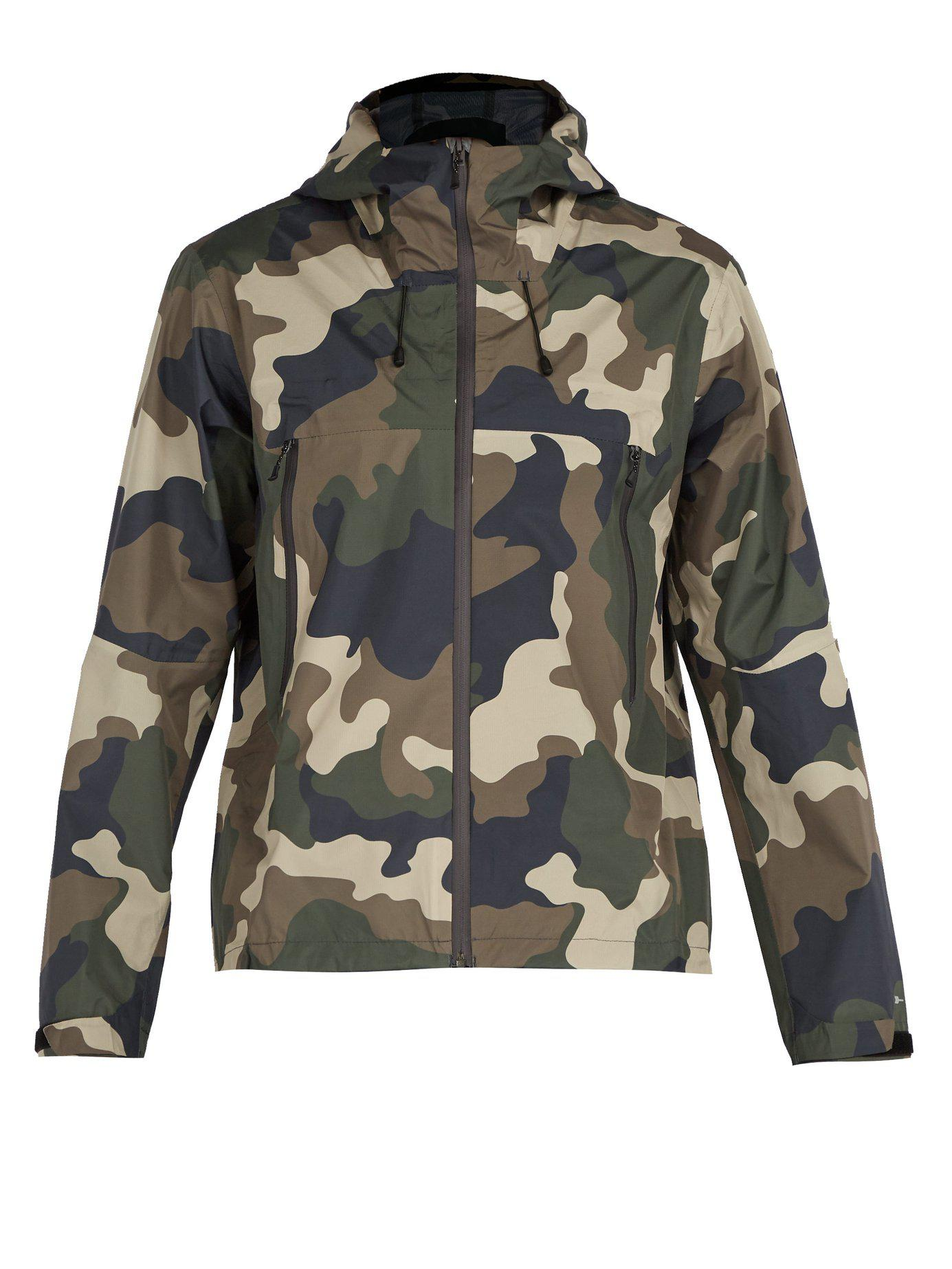 9f922eea49ad Lyst - The Upside All Weather Waterproof Hooded Camo Print Jacket in ...