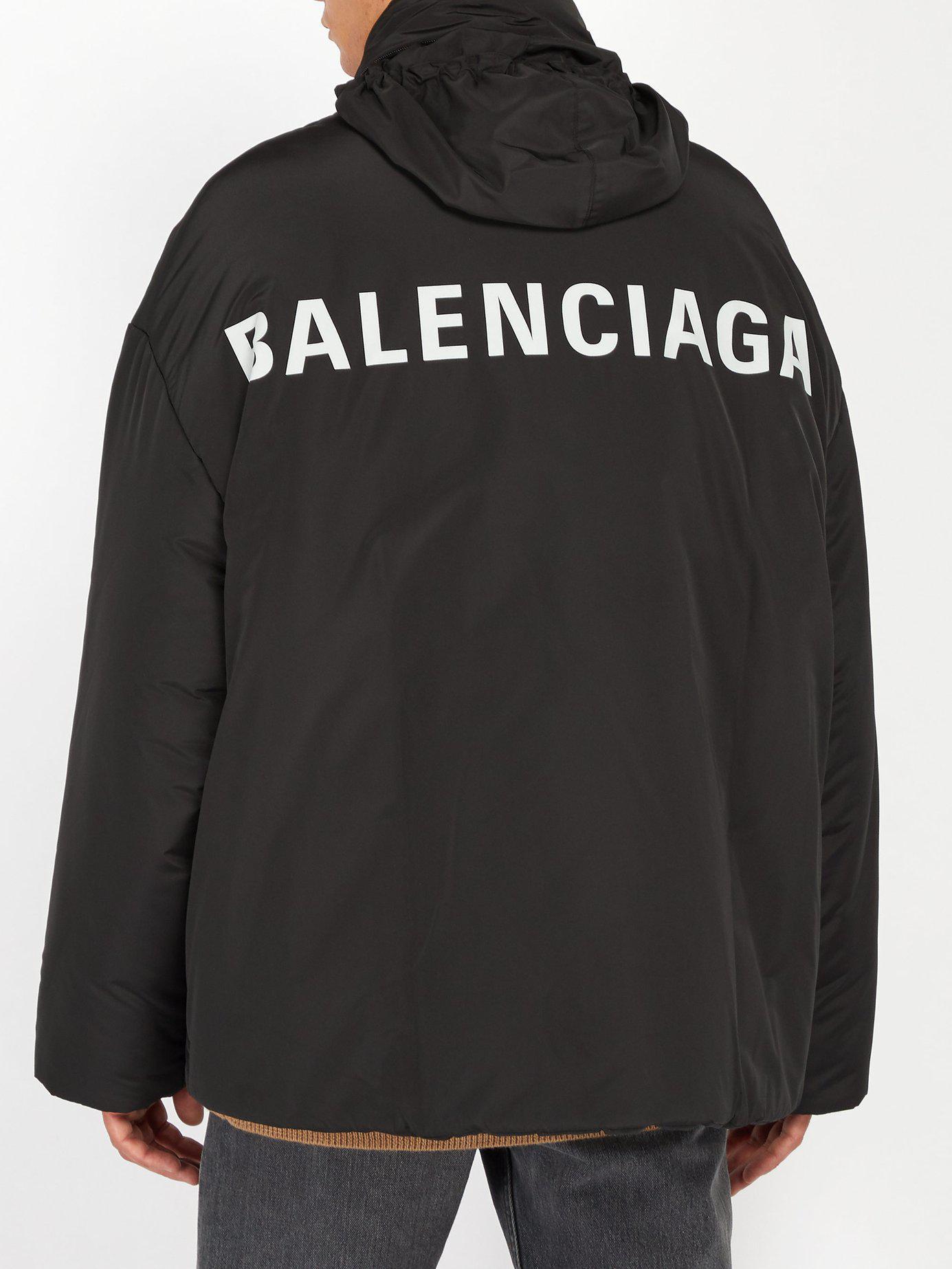 Balenciaga Logo Windbreaker Jacket in