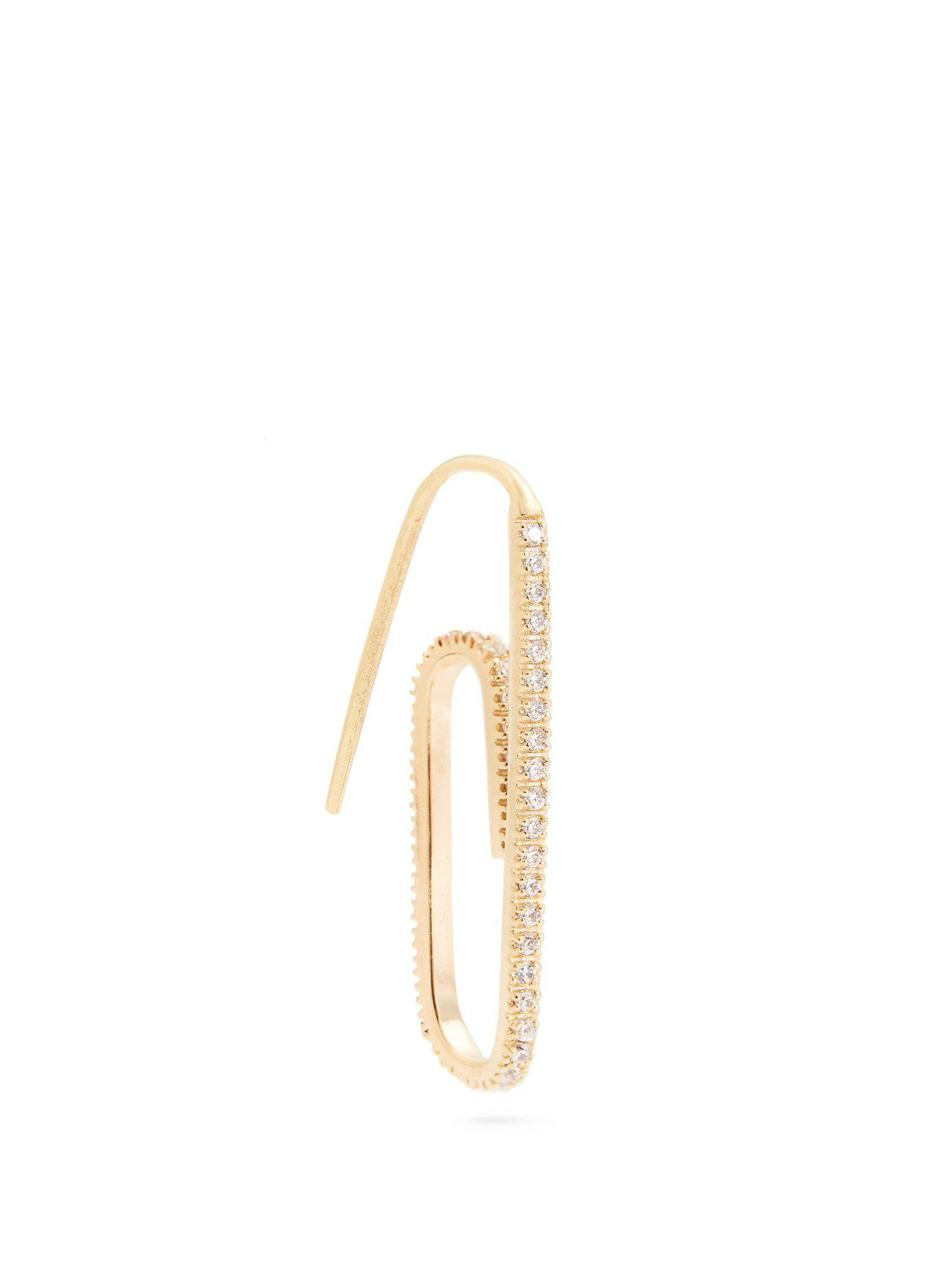 Hillier Bartley Paperclip single earring 0Tof3